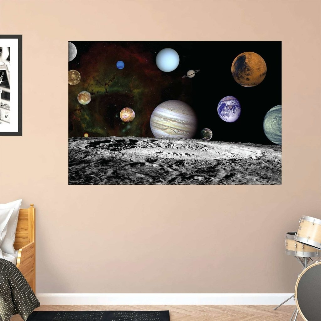 Well Known Astronaut 3D Wall Art With Wall Arts ~ Solar System Wall Art Stickers The Solar System Artist (View 15 of 15)