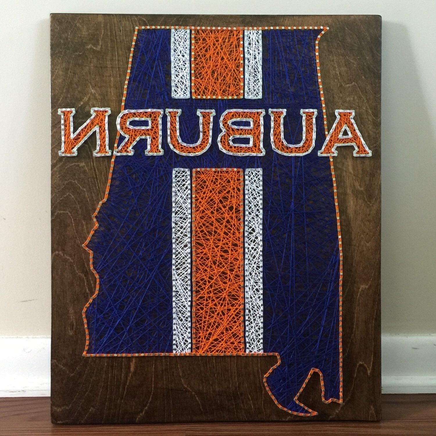 Well Known Auburn University State String Artseasonofseeking On Etsy Inside Auburn Wall Art (View 7 of 15)
