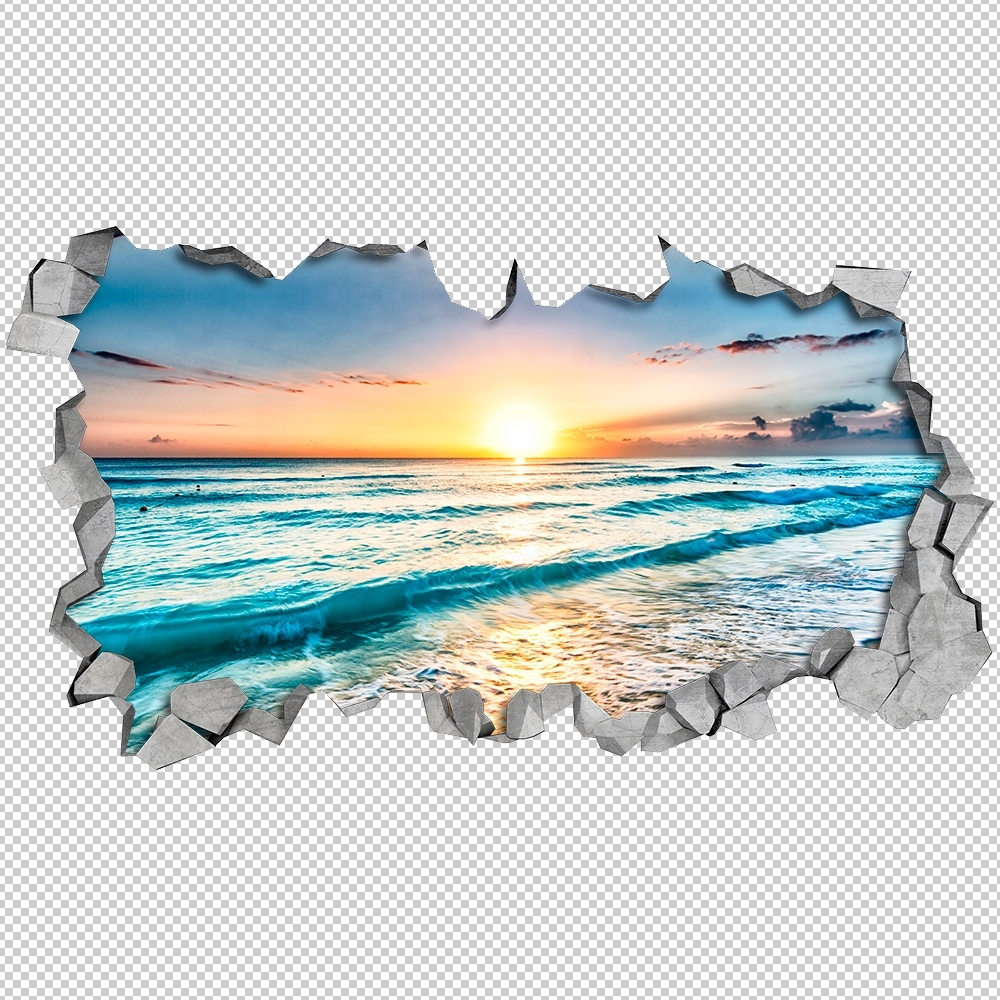 Well Known Beach View 3d Wall Art – Moonwallstickers With Regard To Beach 3d Wall Art (View 2 of 15)