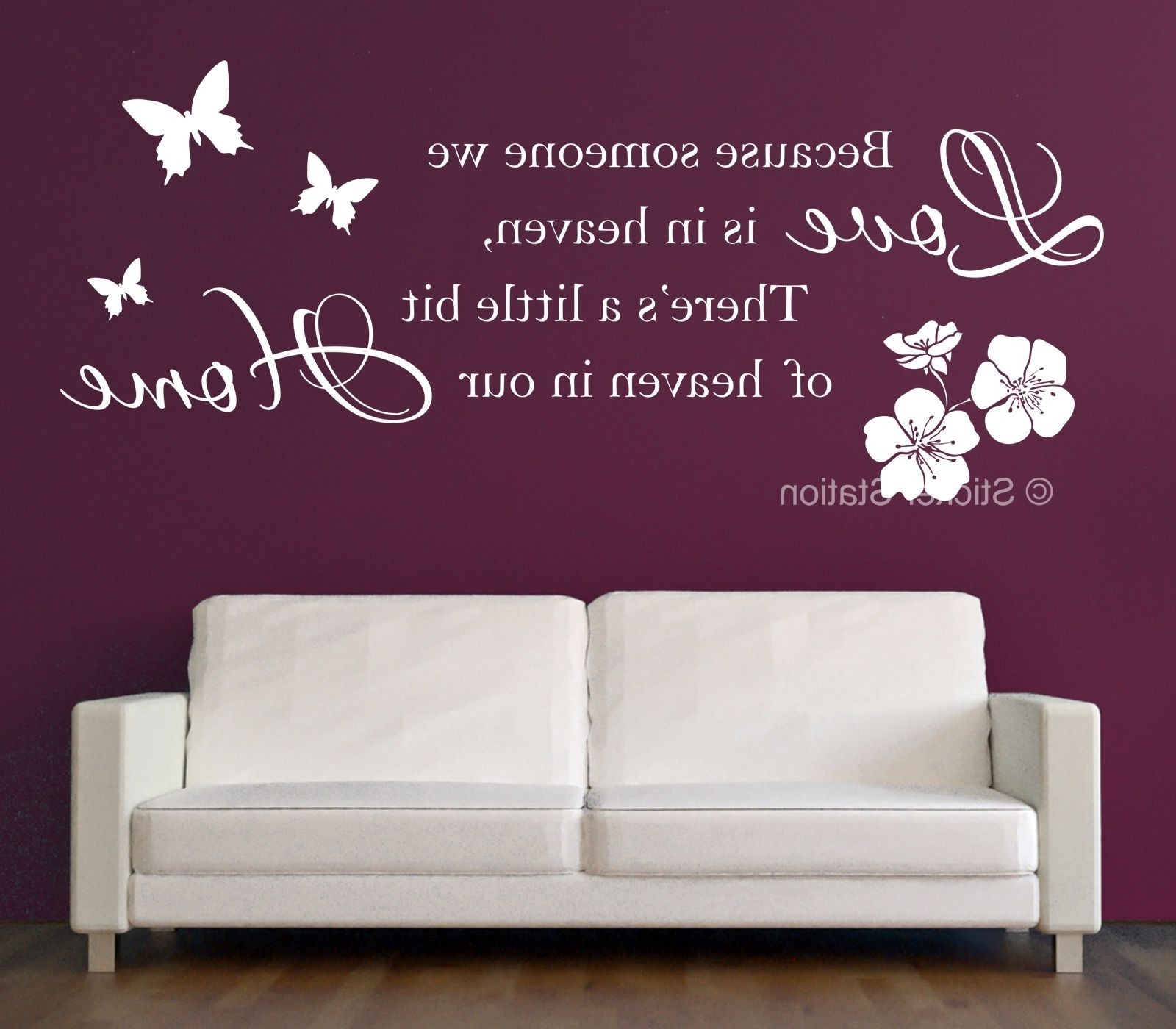 Well Known Because Someone We Love Is In Heaven Inspirational Wall Art With Regard To Love Wall Art (View 14 of 15)