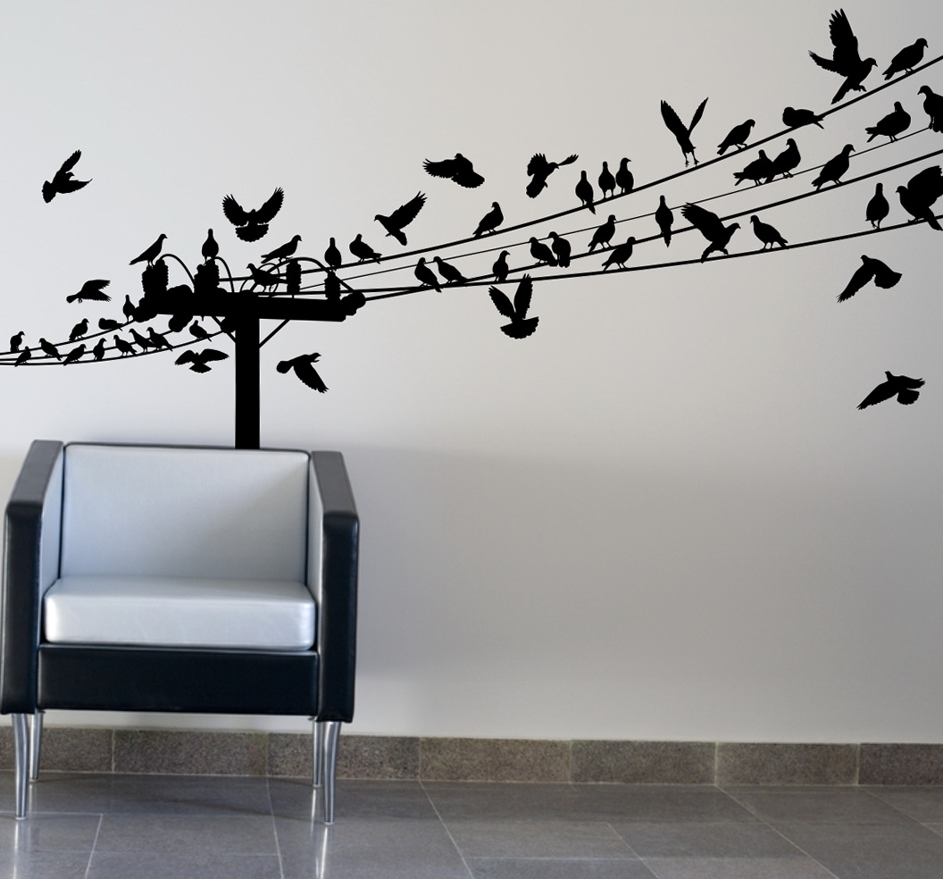 Well Known Birds On Wire Wall Art Optimize Every Inch Of Interior With In White Birds 3D Wall Art (View 11 of 15)