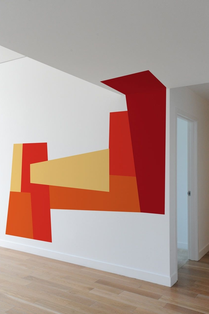 Well Known Blik Mina Javid Wall Decals Modern Orange (View 15 of 15)