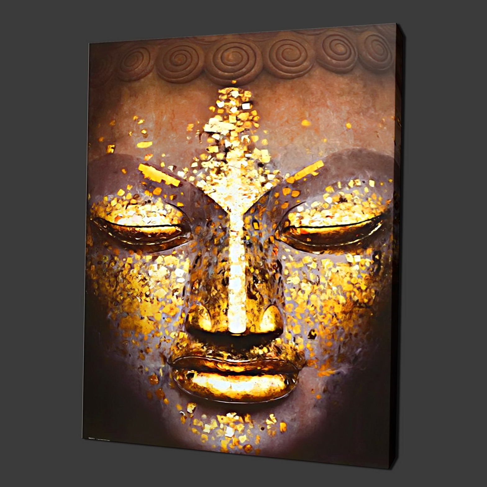 Well Known Buddha Wall Art Canvas (View 13 of 15)