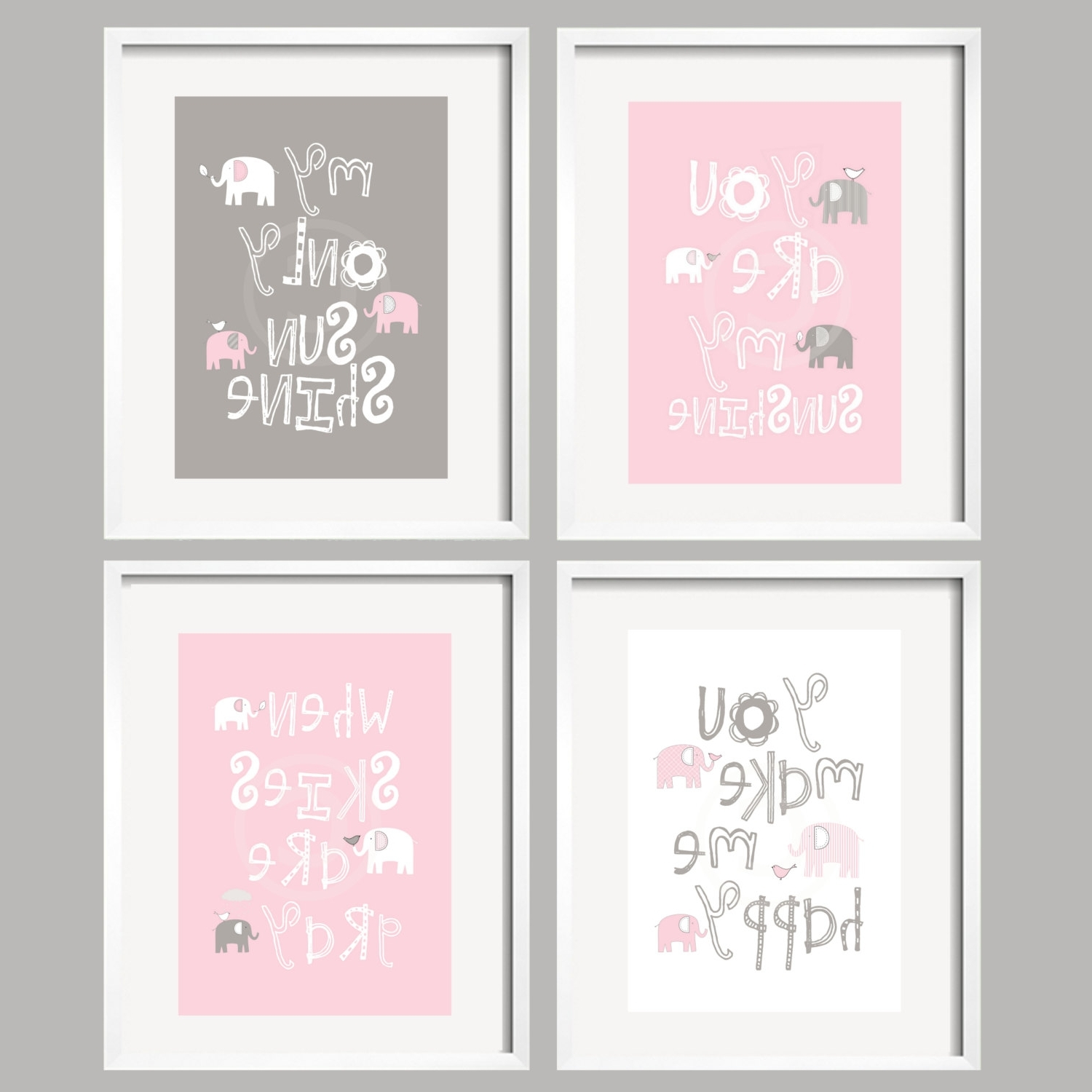 Well Known Canvas Prints For Baby Nursery With Regard To Amusing Brown Baby Girl Nursery Designednicolethroughout Baby (Gallery 3 of 15)