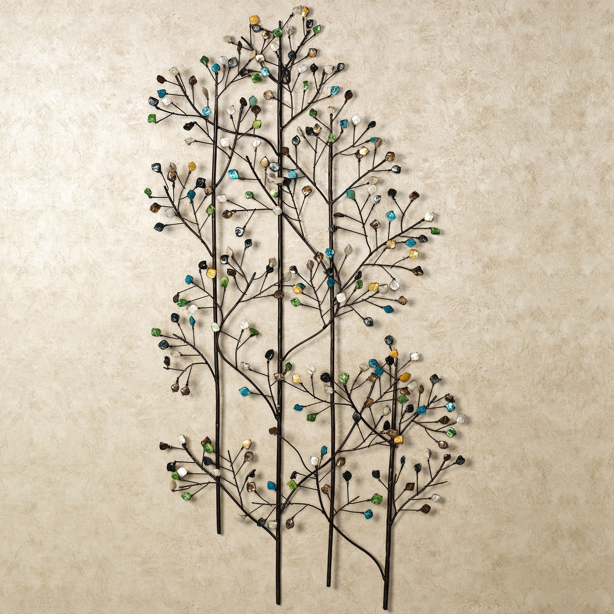 Well Known Charming Natural Plant Design For Metal Wall Art And Decor Leaves Within Wire Wall Art Decors (View 7 of 15)