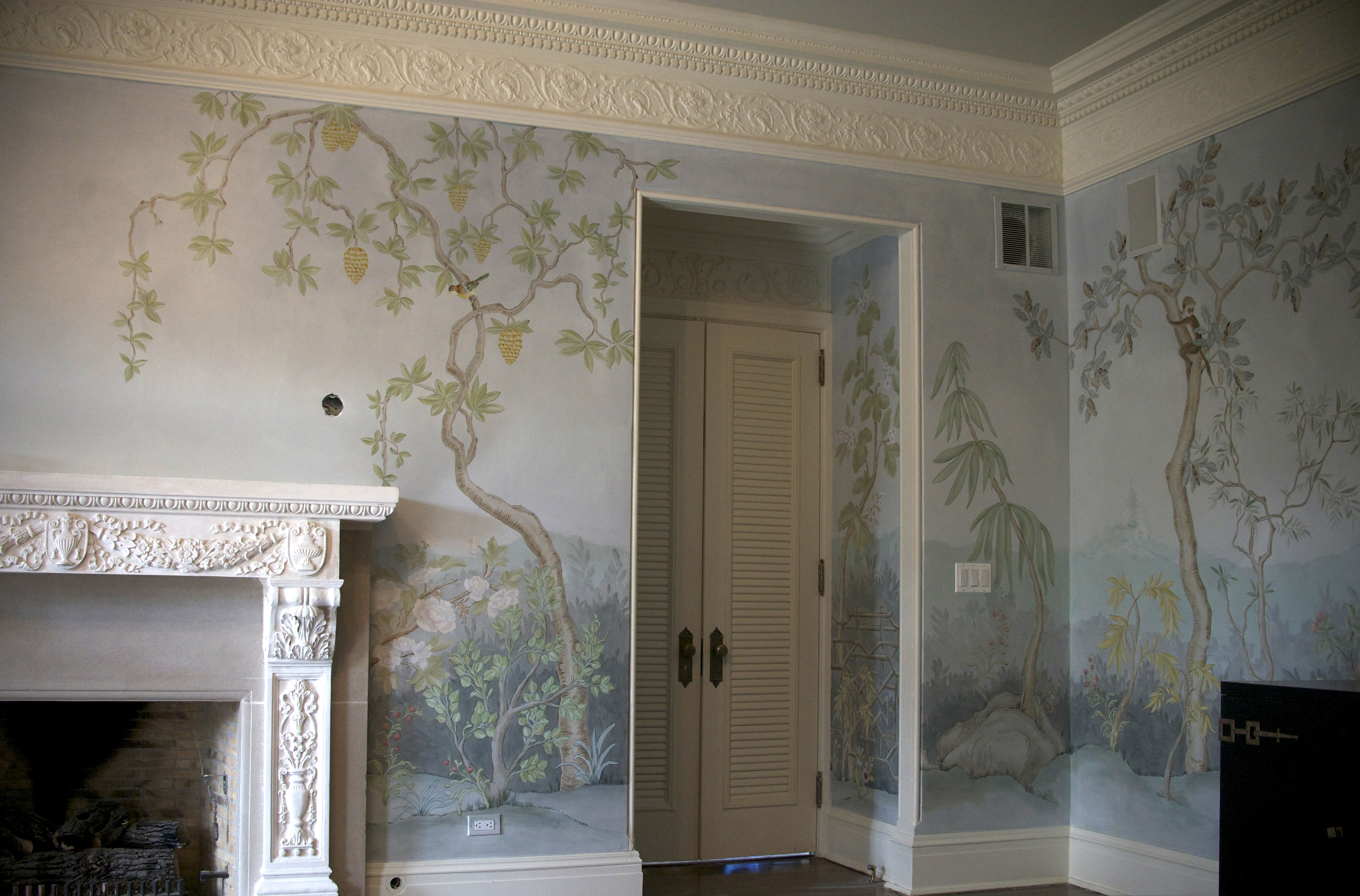 Well Known Chinoiserie Mural – Allison Cosmos Inside Chinoiserie Wall Art (View 13 of 15)