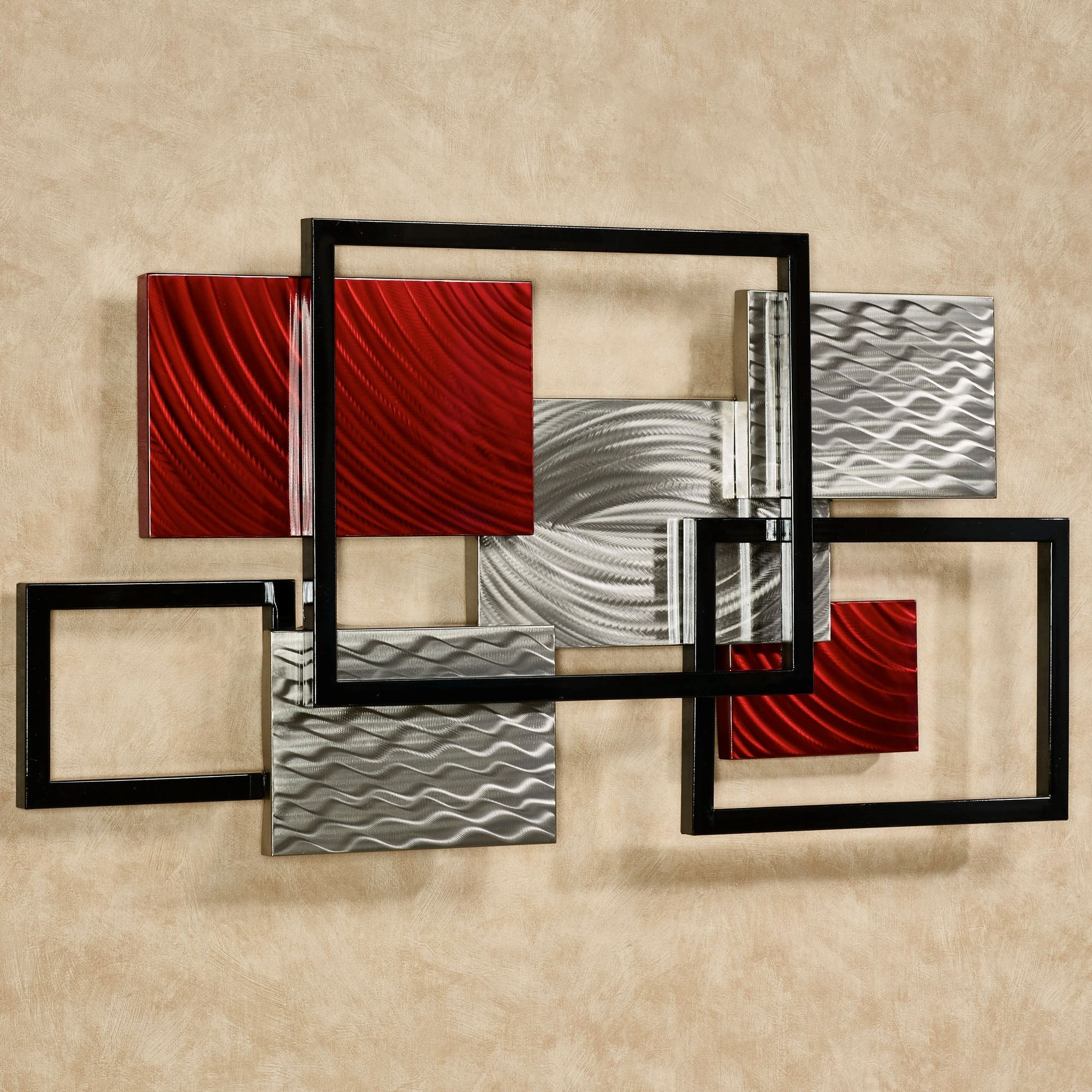 Well Known Contemporary Wall Art Within Framed Array Indoor Outdoor Abstract Metal Wall Sculpture (View 14 of 15)