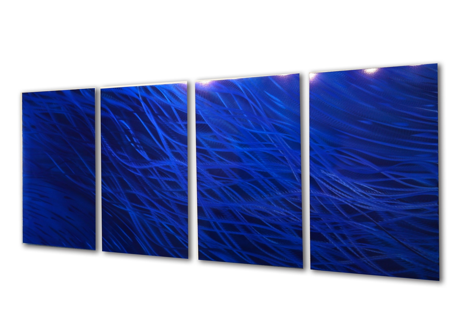 Well Known Dark Blue Wall Art Pertaining To Ocean Dark Blue – Metal Wall Art Abstract Sculpture Modern Decor (View 14 of 15)