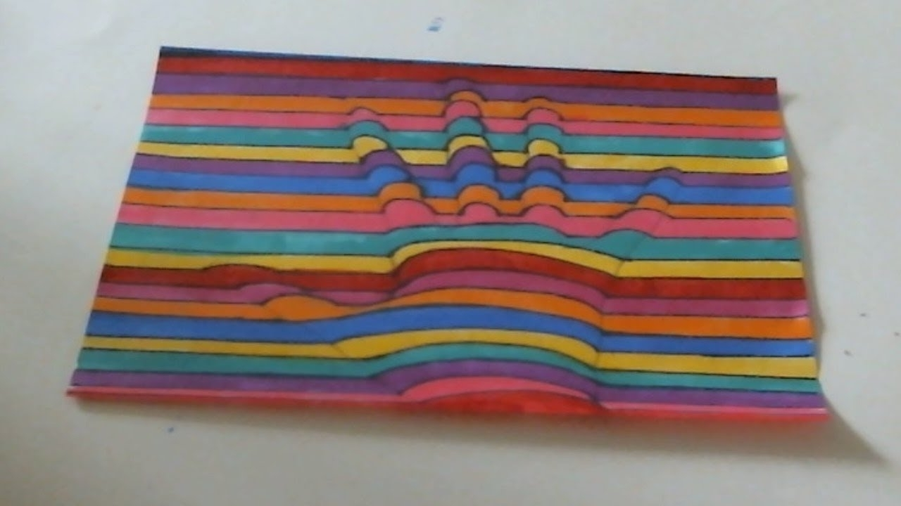 Well Known Diy 3d Line Wall Art – Youtube With Regard To Diy 3d Wall Art Decor (View 13 of 15)