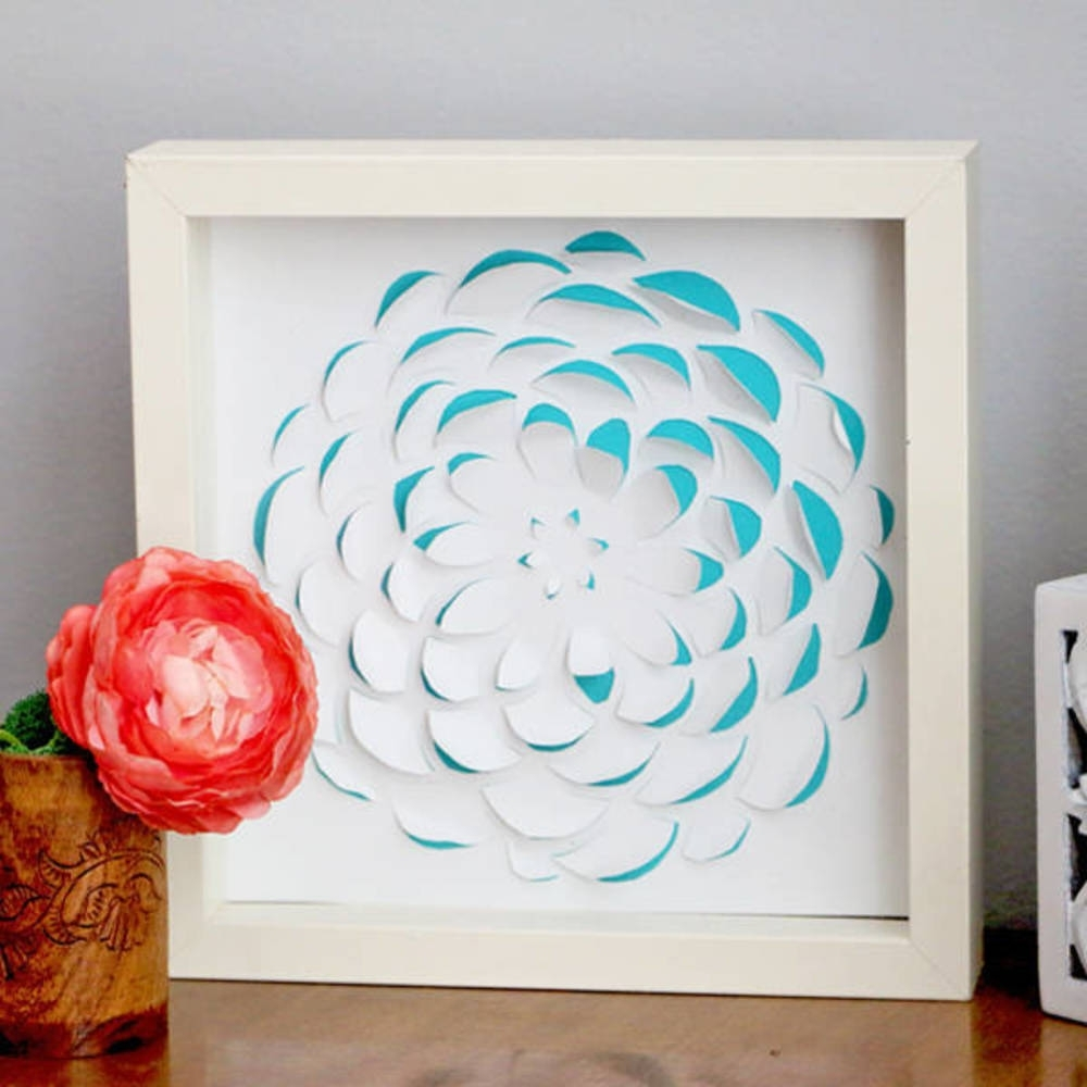 Well Known Diy 3d Paper Wall Art Inside Diy 3d Scrapbook Paper Wall Art (View 4 of 15)