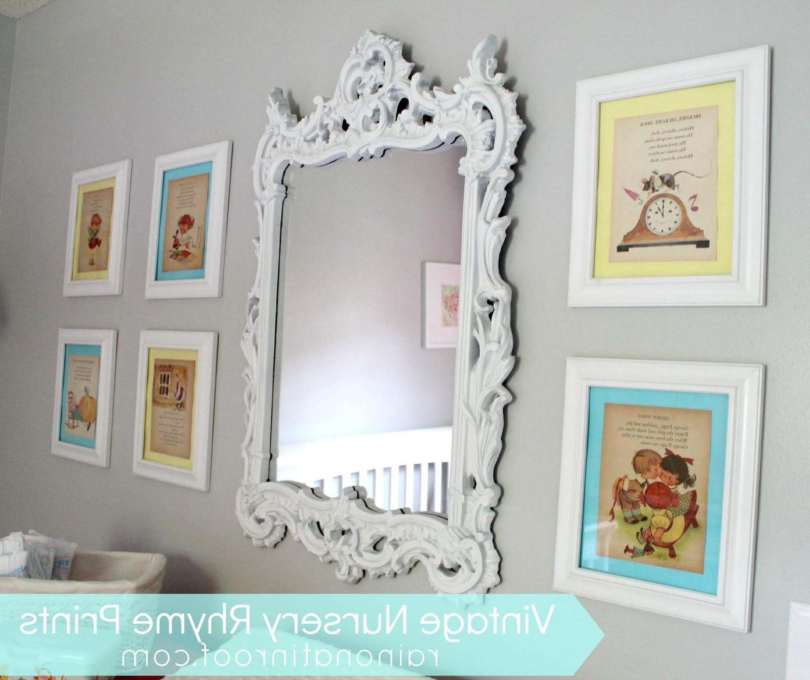 Well Known Diy Vintage Nursery Rhyme Prints: Simple & Cheap Within Nursery Framed Wall Art (View 8 of 15)