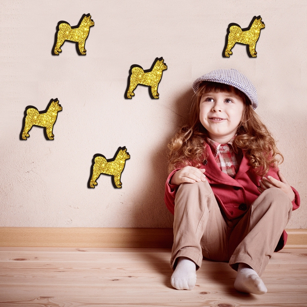 Well Known Dogs 3d Wall Art Throughout Haochu 4pcs 3d Wall Stickers Dog Backdrop Diy Decal Mural Wall Art (View 11 of 15)