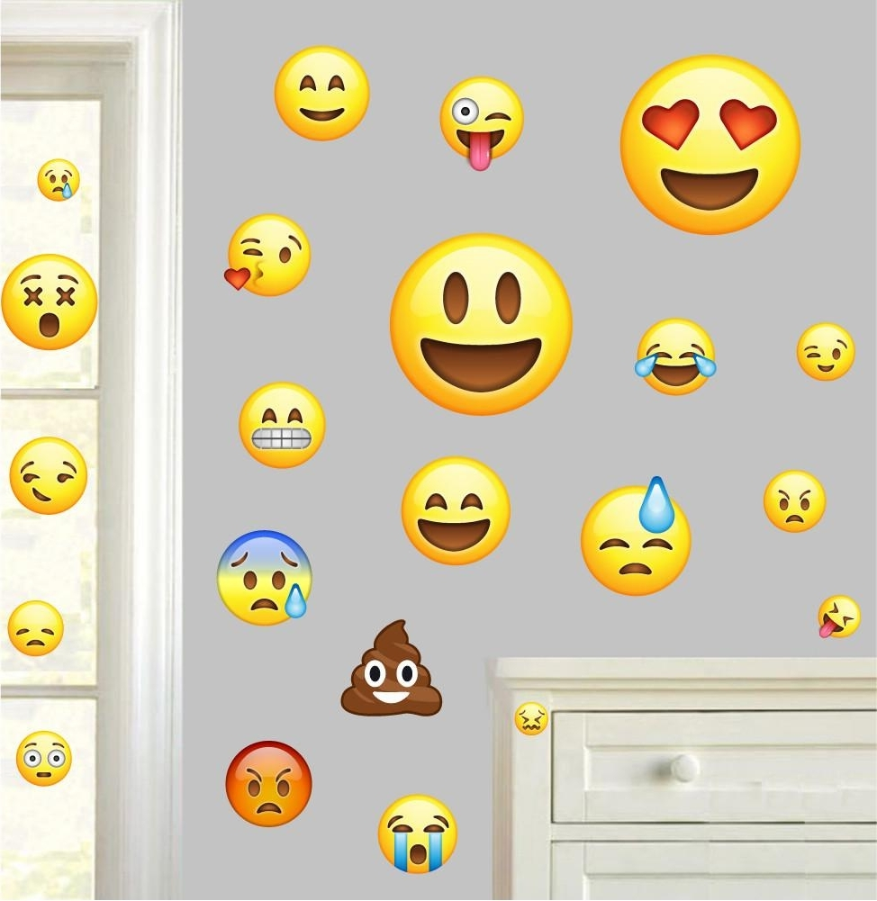 15 Photos Emoji Wall Art