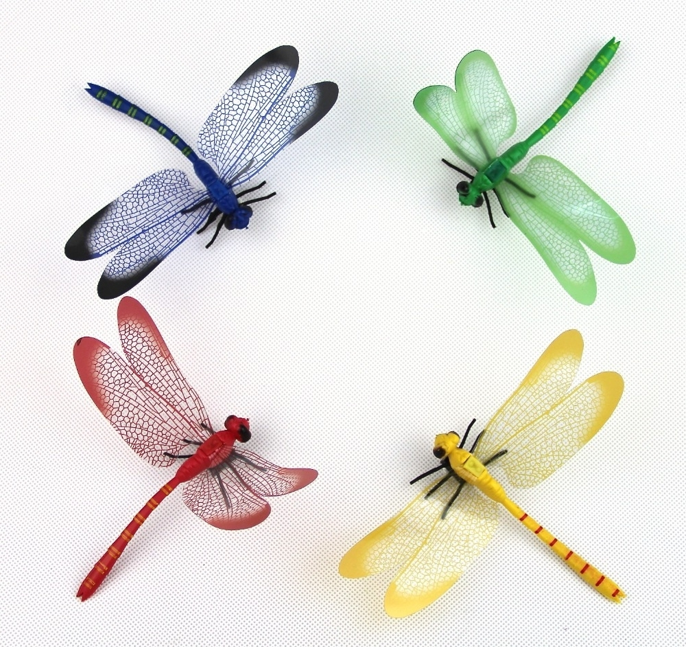 Well Known Dragonfly 3d Wall Art Pertaining To Cute Colourful Pvc 3d Magnetic Dragonfly Sticker Home Wall (View 14 of 15)