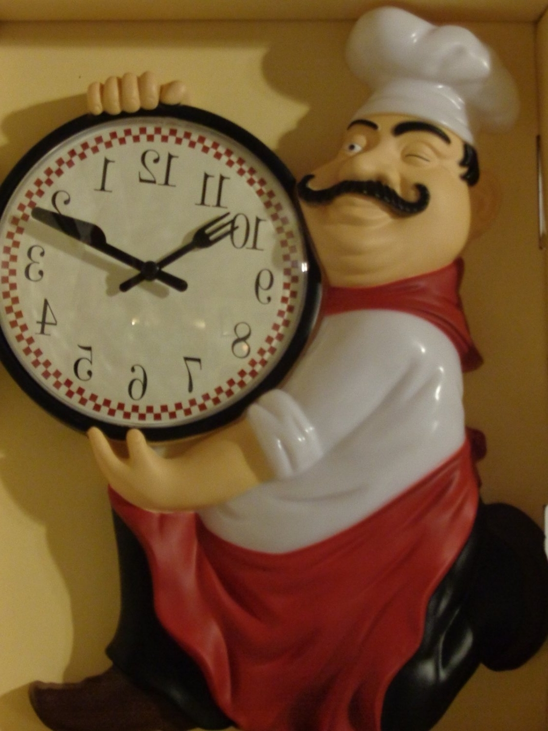 Well Known Fat+italian+chef+kitchen+wall+clock This Is The Perfect Clock For Intended For Italian Ceramic Wall Clock Decors (View 5 of 15)