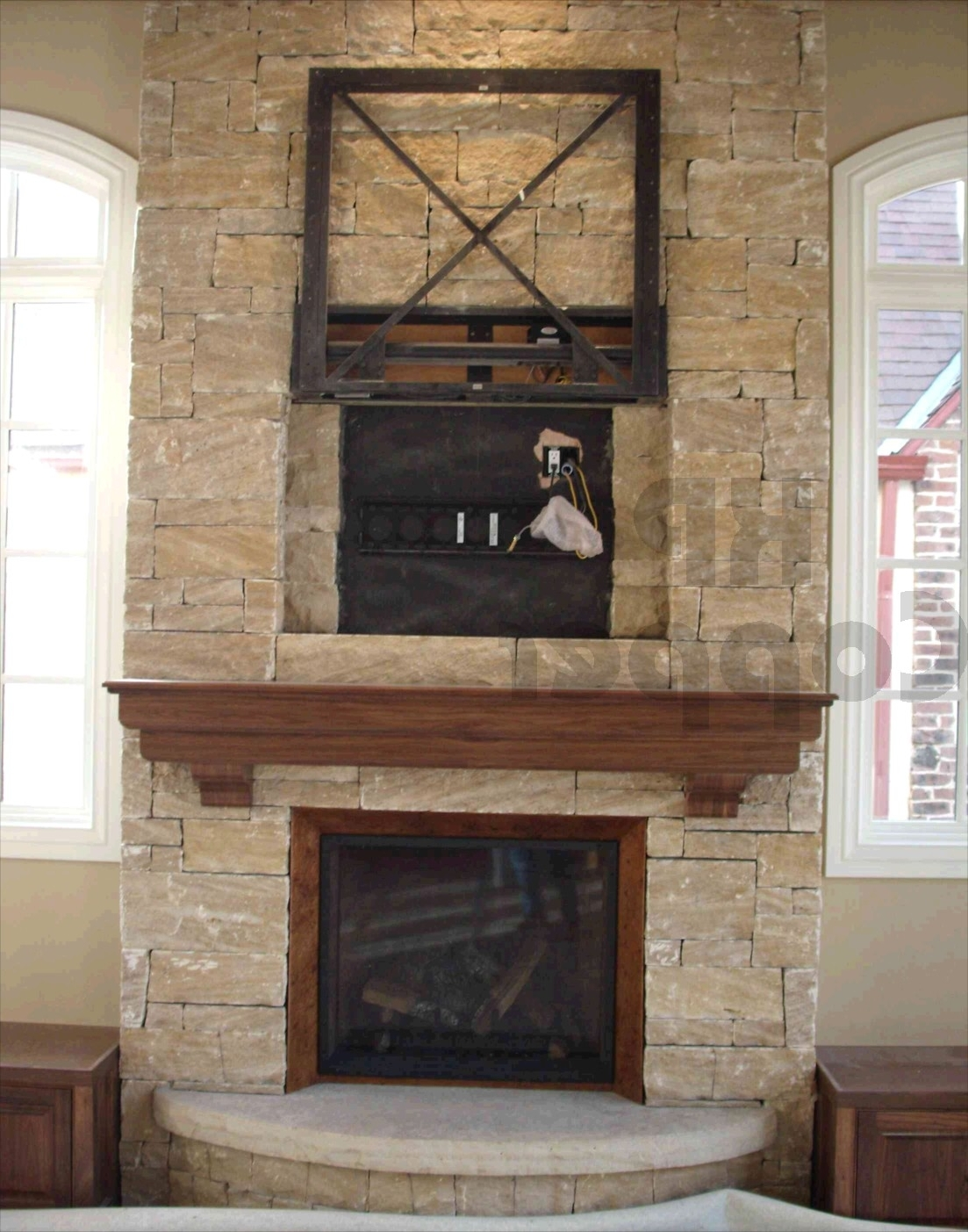 Well Known Fireplace Wall Art In Stone Fireplace Designs (View 13 of 15)