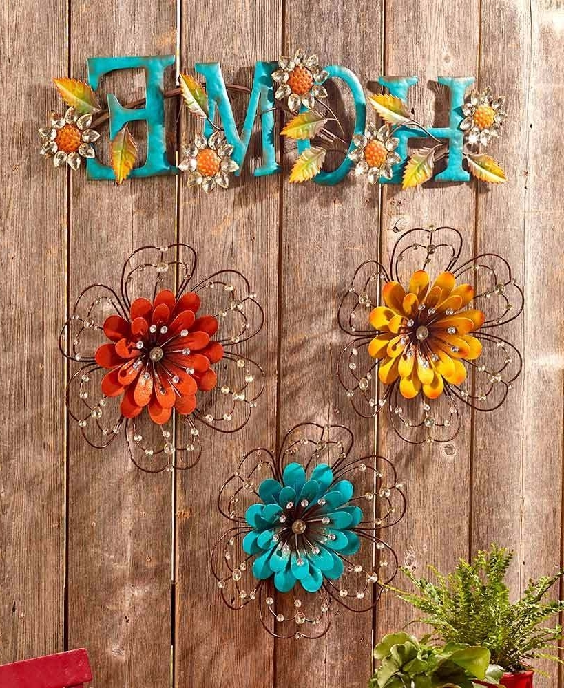 Featured Photo of Jeweled Metal Wall Art