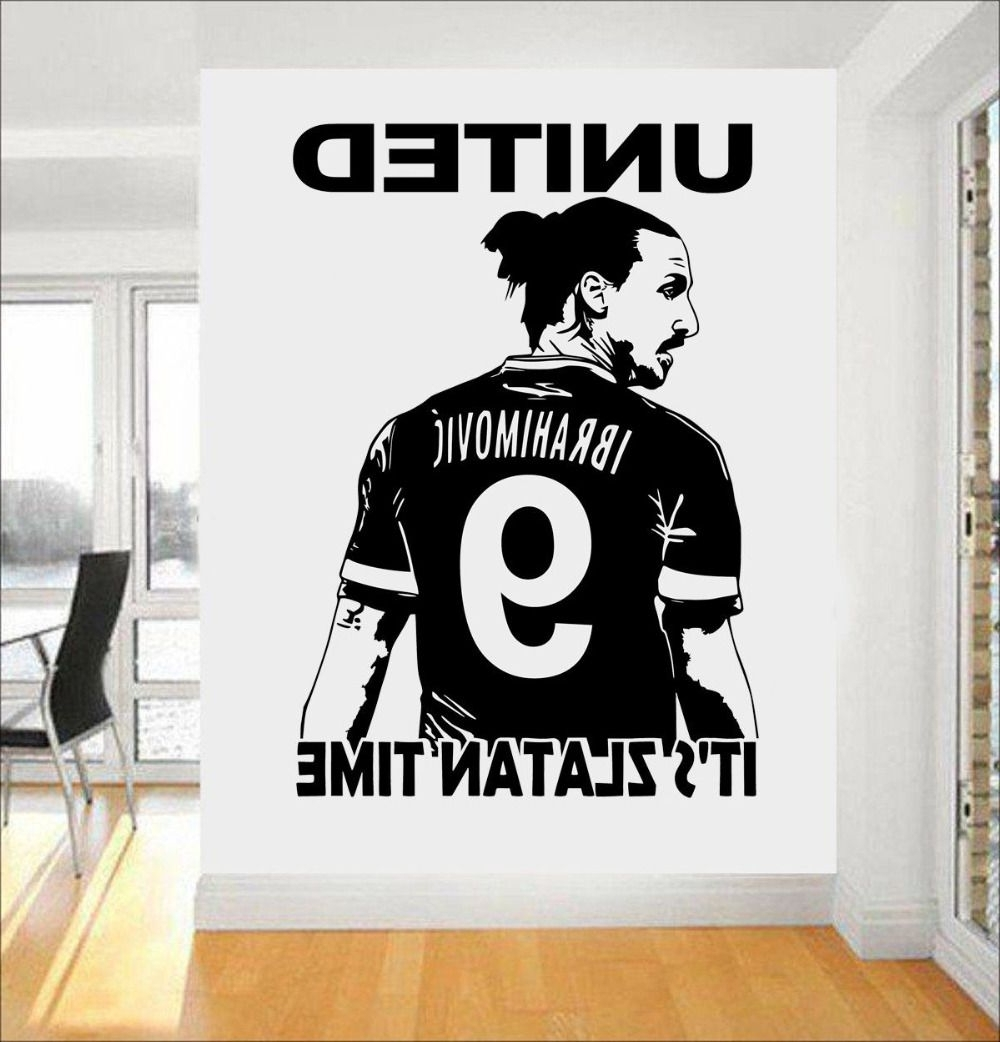 Well Known Football 3D Wall Art Intended For Zlatan Ibrahimovic Football Star Wall Art 3D Poster Soccer Wall (View 14 of 15)