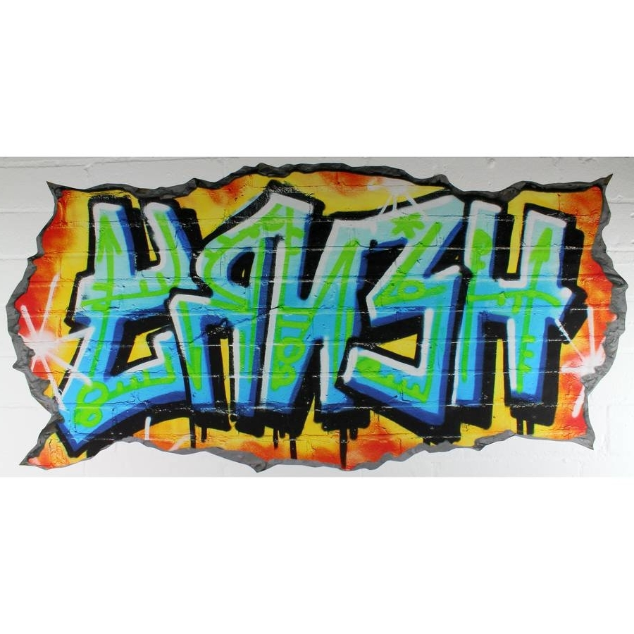Well Known Graffiti Wallpaper Personalised – Graffiti Art Inside Personalized Graffiti Wall Art (View 11 of 15)