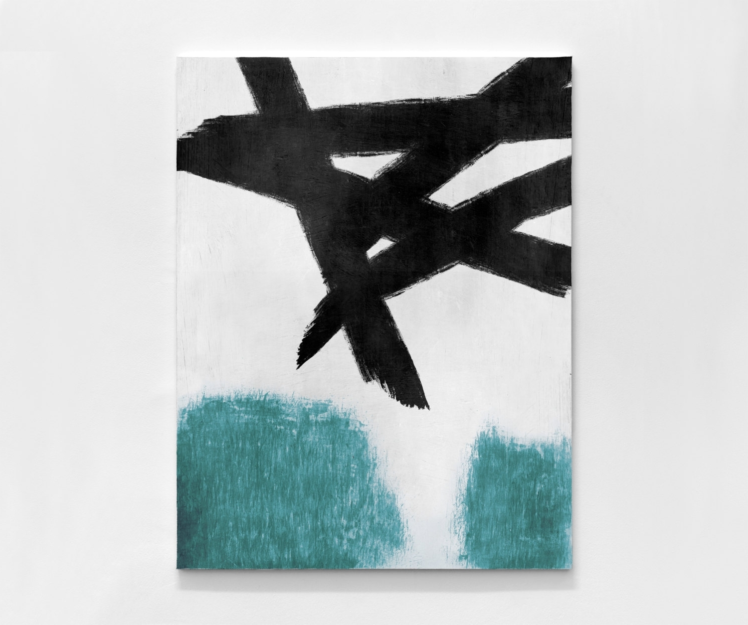 Well Known Hand Painted Extra Large Abstract Painting, Oil Painting Large Intended For Teal And Black Wall Art (View 13 of 15)
