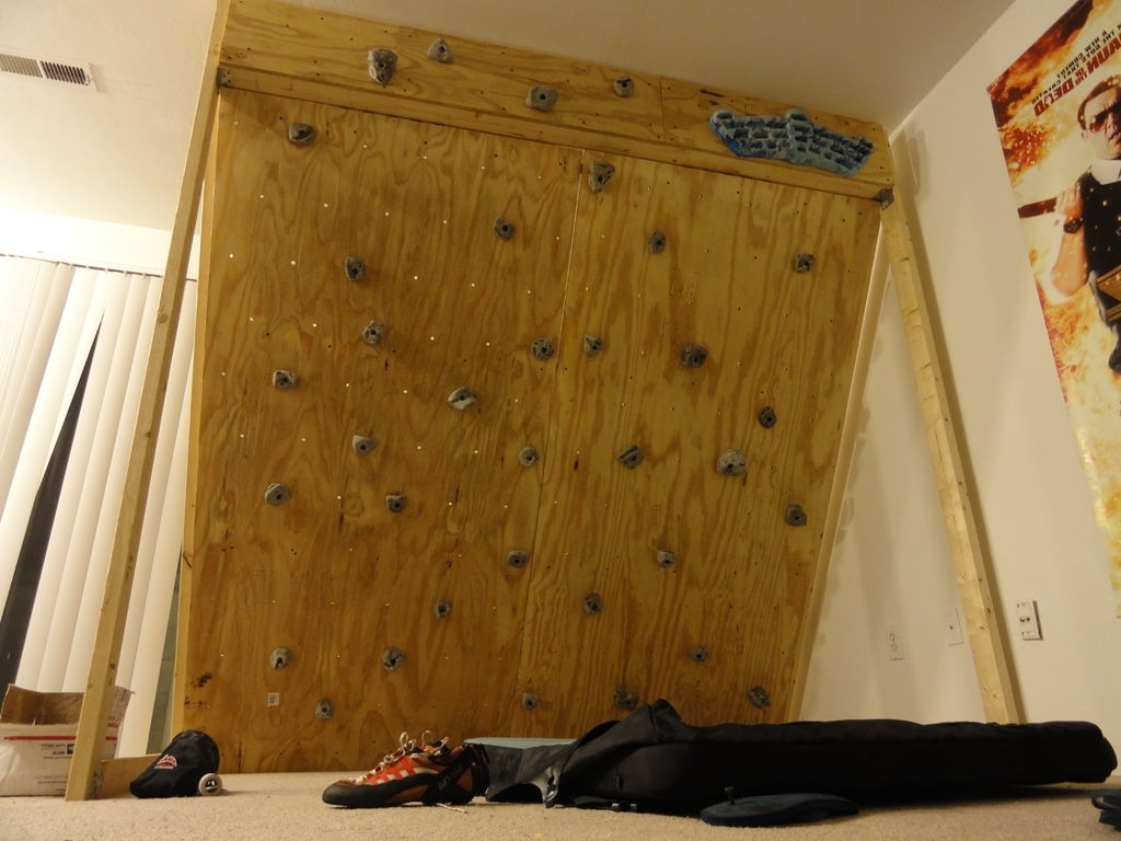 Well Known Home Bouldering Wall Design Pertaining To Freestanding Indoor Rock Climbing Wall For $150: 7 Steps (With (View 15 of 15)