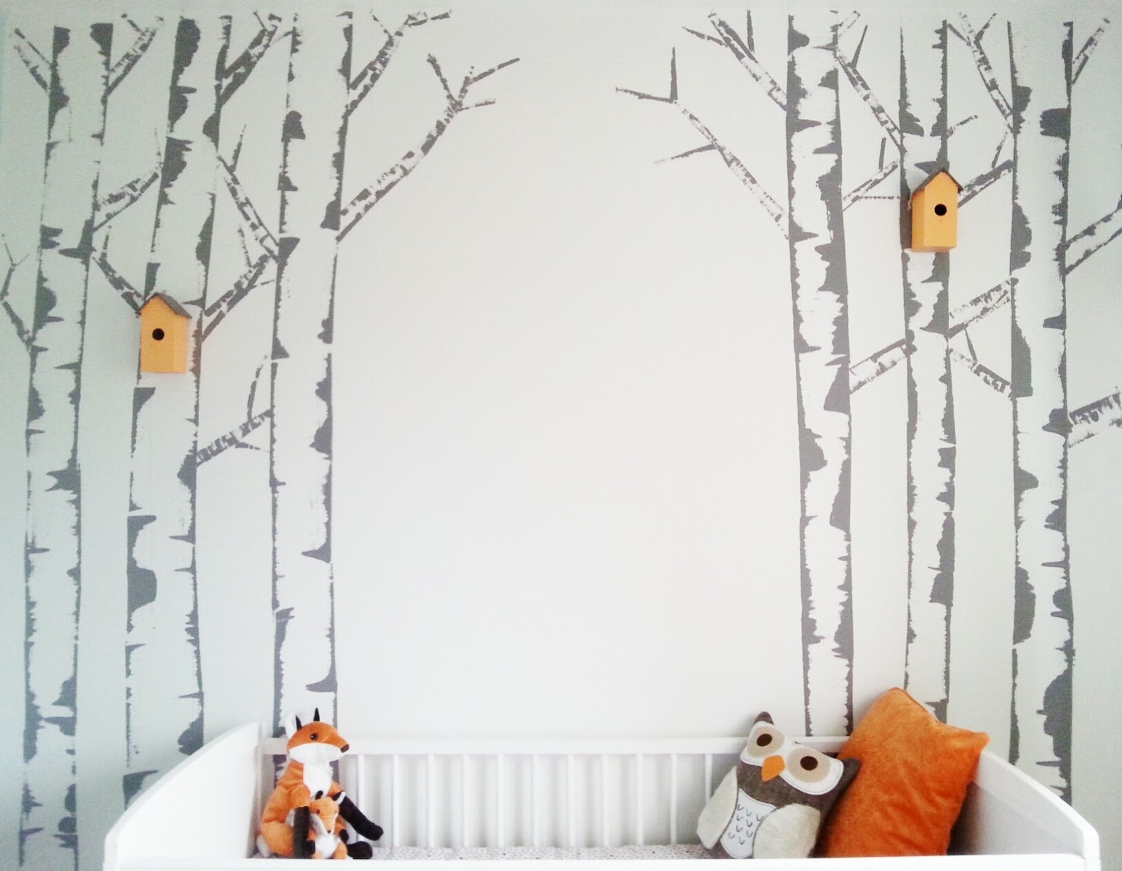 Well Known If You Go Down To The Wood's Today ~ Make Do And Diy With Painted Trees Wall Art (View 13 of 15)