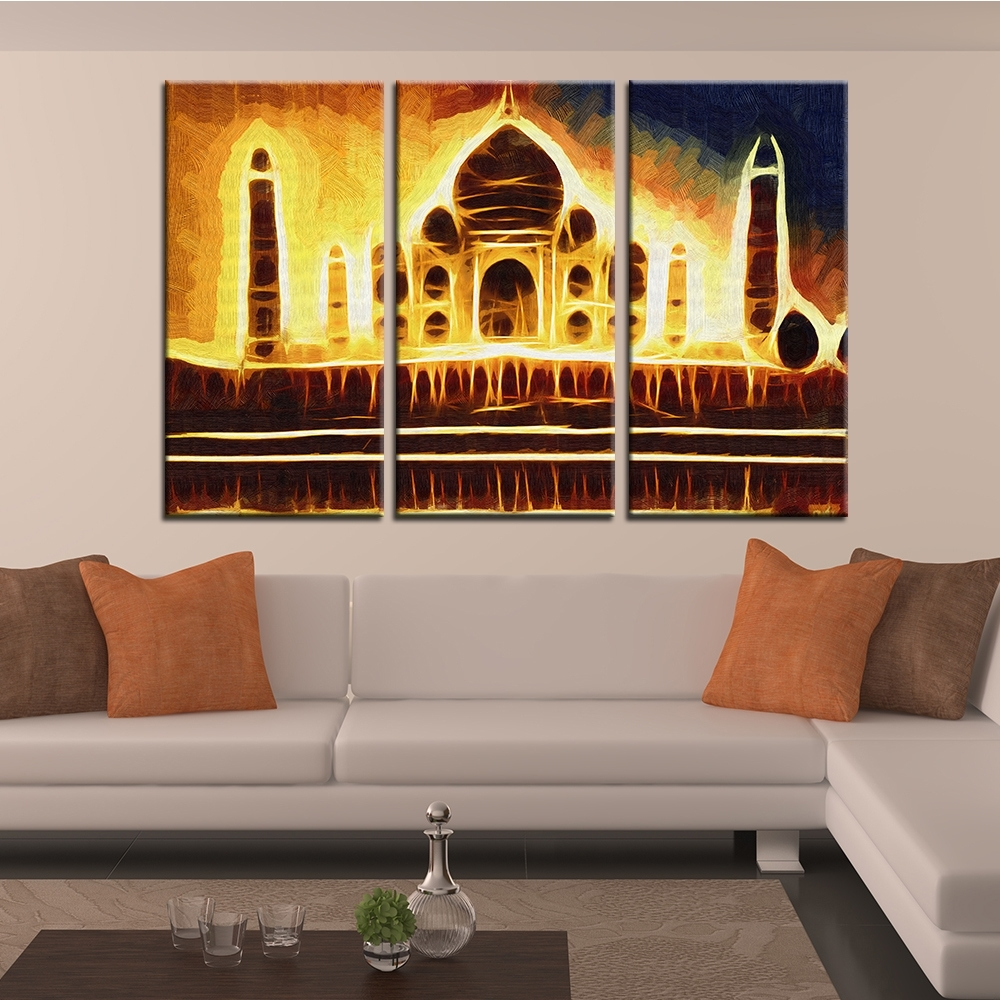 Well Known India Abstract Wall Art Throughout Buy Taj Mahal Art And Get Free Shipping On Aliexpress (View 8 of 15)