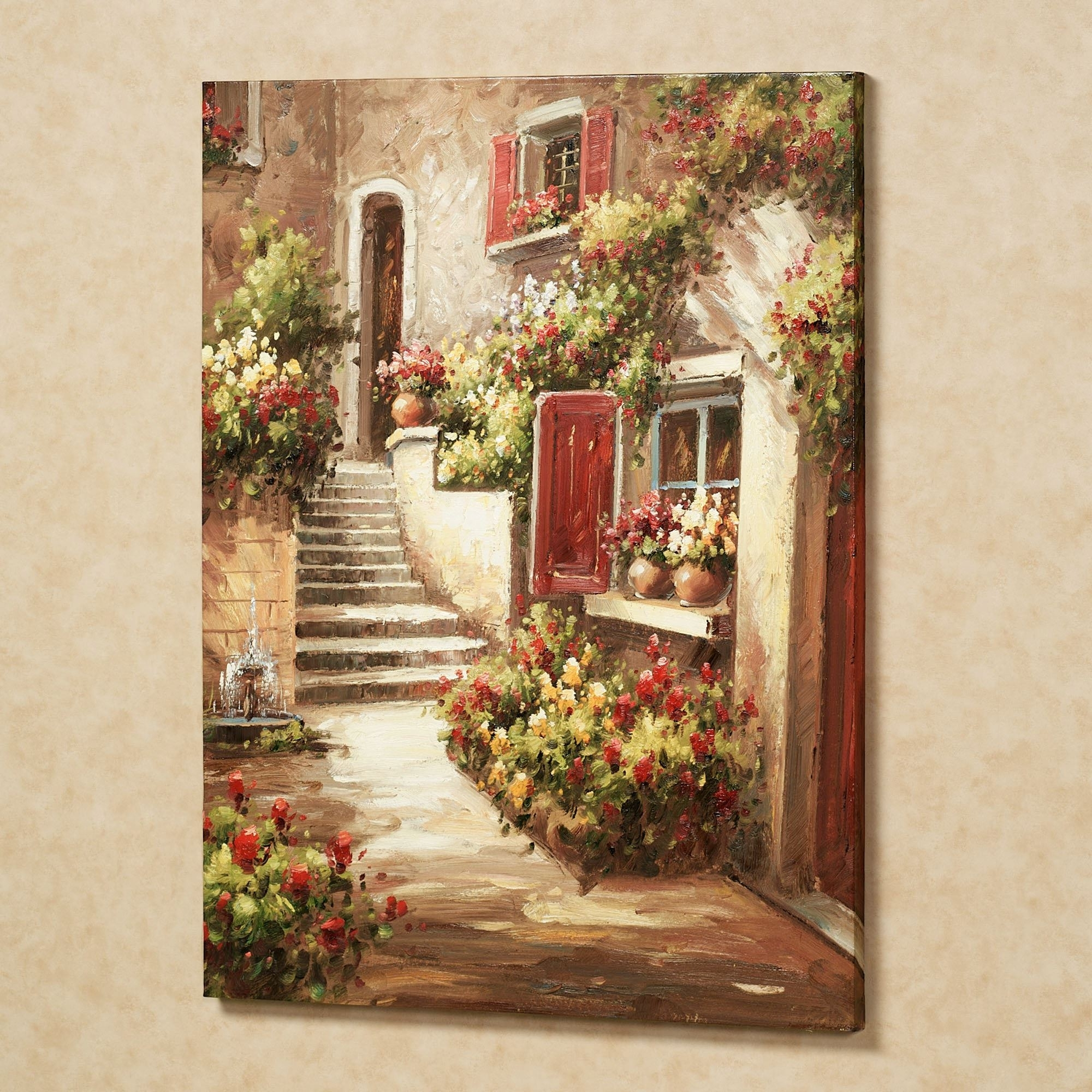 Italian Canvas Tent Veranda Decorated In Different Styles: The Best Italian Garden Wall Art