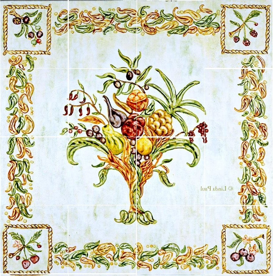 Well Known Italian Mosaic Wall Art Intended For Italian Design – Still Life Kitchen Tile Backsplash Mural (View 14 of 15)