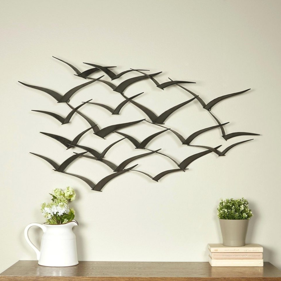 Well Known Italian Silver Wall Art Regarding Furniture : Magnificent Metal Bird Wall Art New 20 Best Ideas (View 15 of 15)