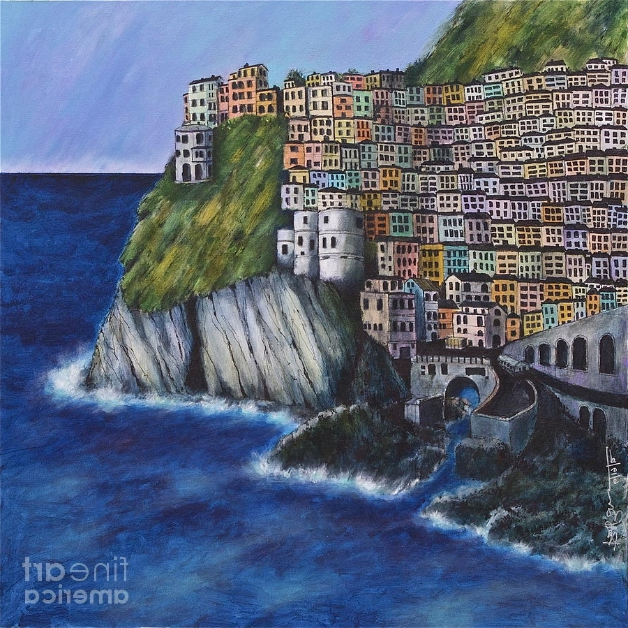 Well Known Italian Village Wall Art Intended For Village Cinque Terre Paintingrobert Birkenes (View 4 of 15)
