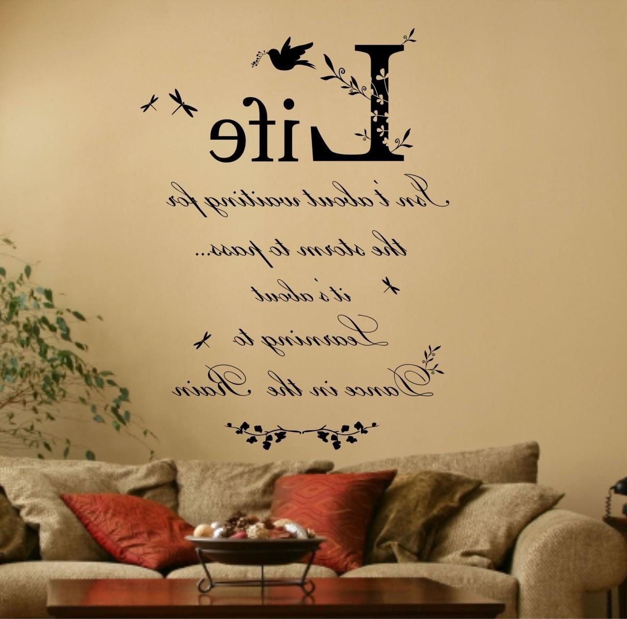 Well Known Italian Words Wall Art Inside Designs : Bathroom Wall Saying  Decals Together With Wall