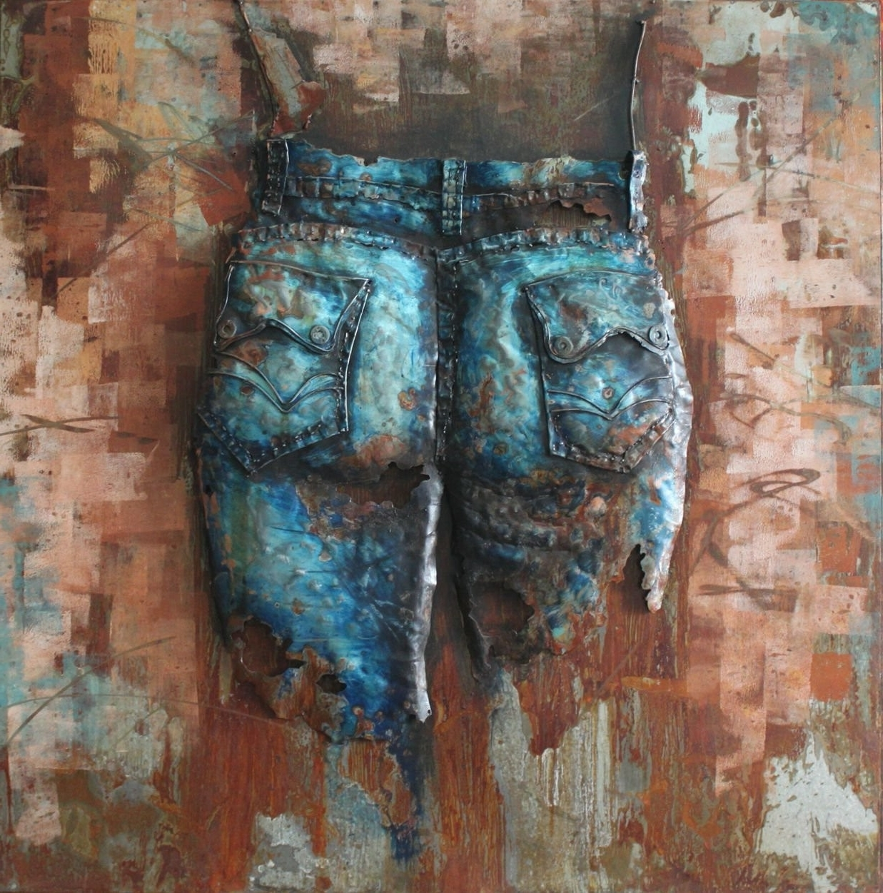 Well Known Jeans Cowgirl(back) – 3d Metal Wall Art – Metal Wall Art With 3d Metal Wall Art (View 12 of 15)
