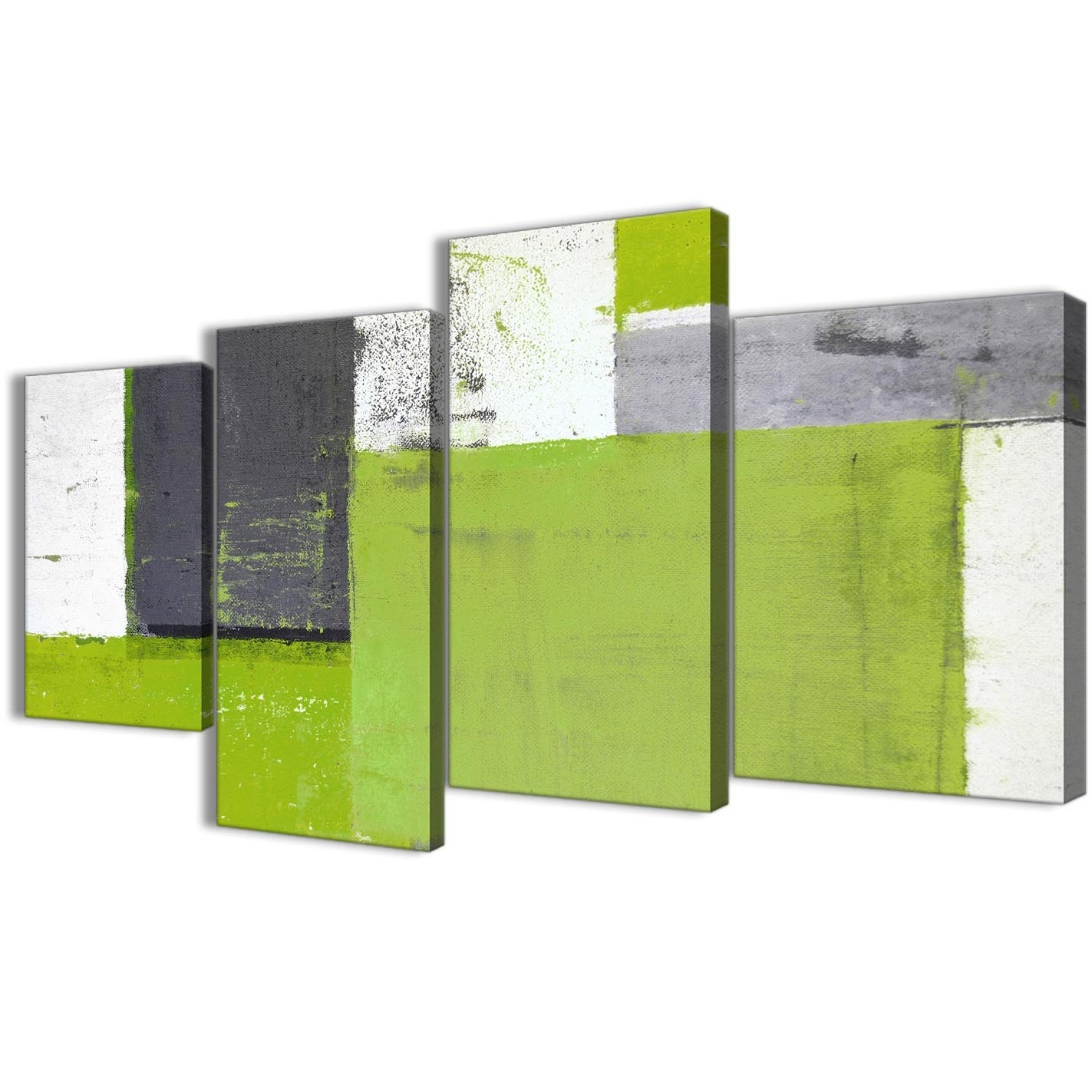 Well Known Large Lime Green Grey Abstract Painting Canvas Wall Art Print Throughout Lime Green Abstract Wall Art (View 15 of 15)