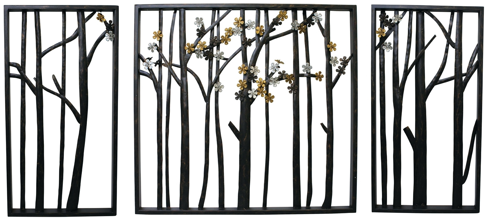 Well Known Large Wrought Iron Wall Art Pertaining To Wall Arts ~ Appealing Metal Wall Hangings Trees Full Size Of Decor (View 15 of 15)