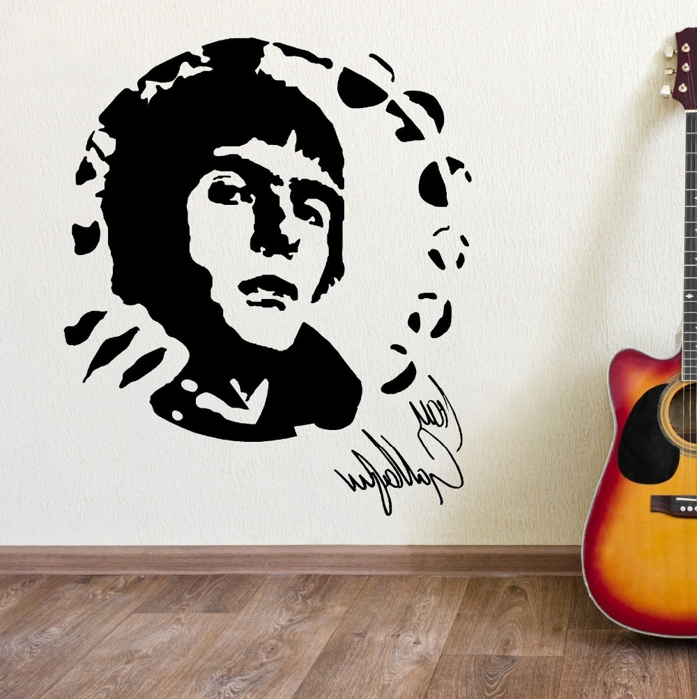 Well Known Liam Gallagher Oasis Portrait Vinyl Wall Art Sticker Mural Decal For Music Themed Wall Art (View 14 of 15)