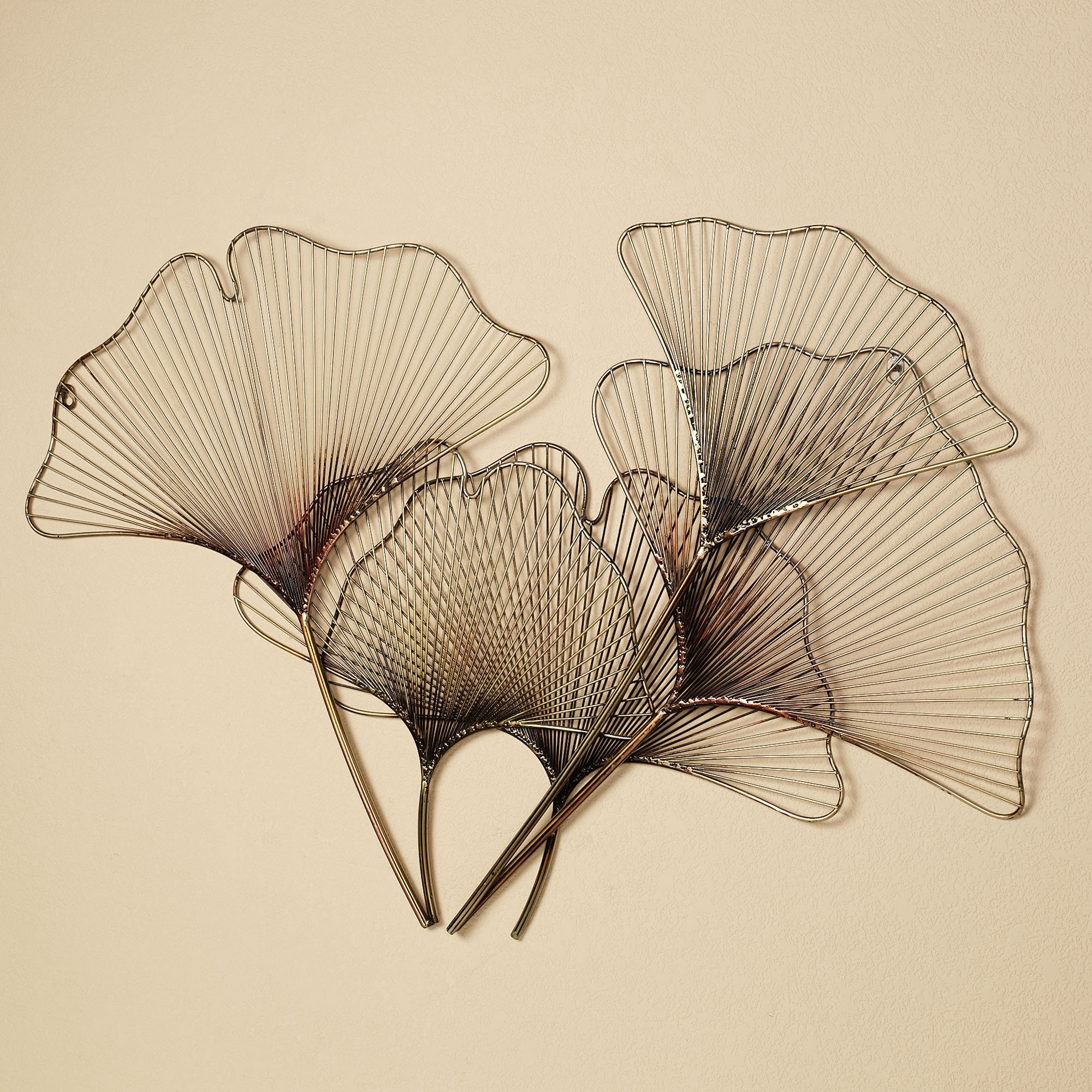 Well Known Metal Art For Walls For Ginkgo Breeze Metal Wall Sculpture (View 8 of 15)
