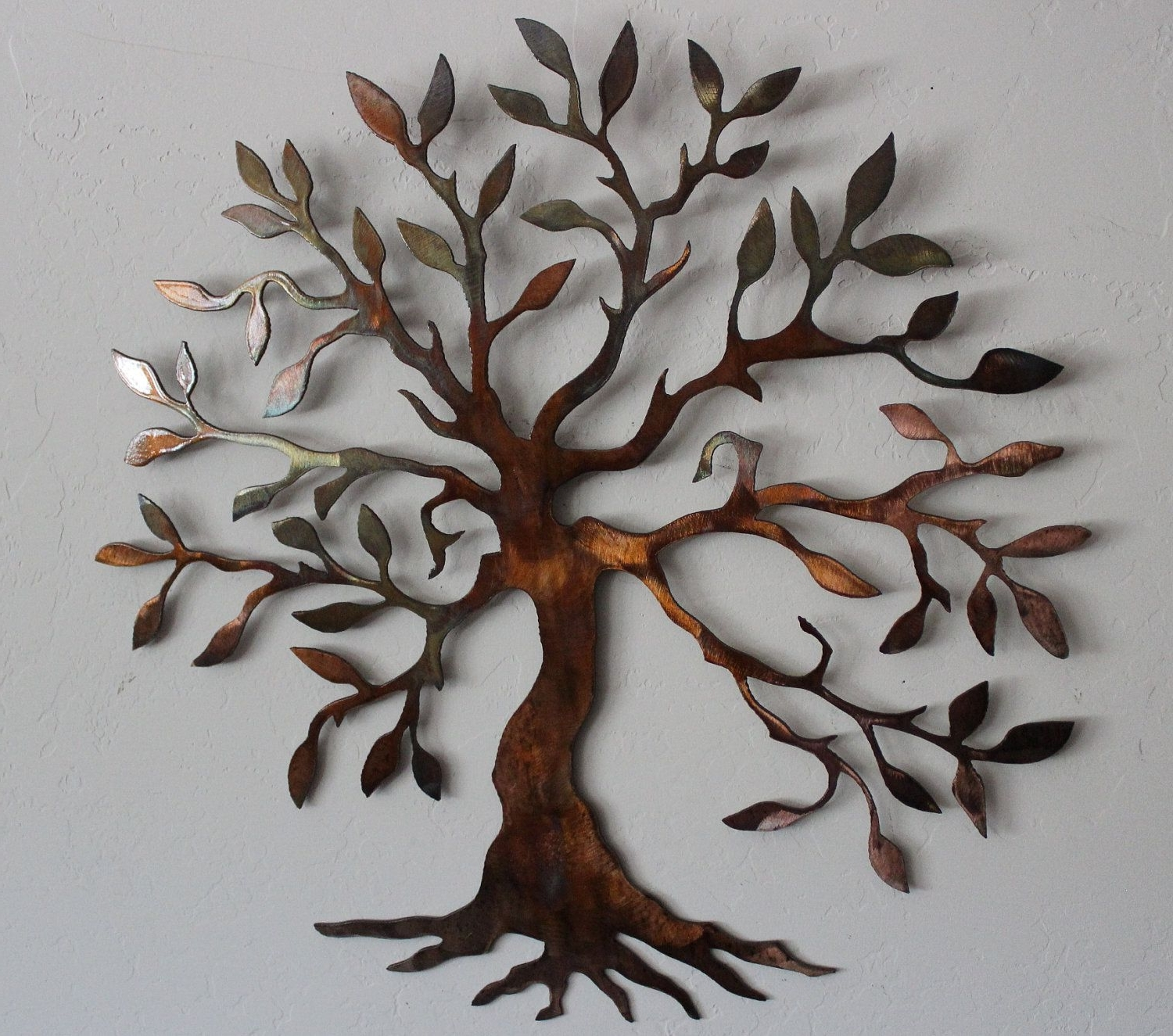 "Well Known Metal Art For Walls Inside Olive Tree –tree Of Live Metal Wall Art Decor 24"" Size. $ (View 5 of 15)"