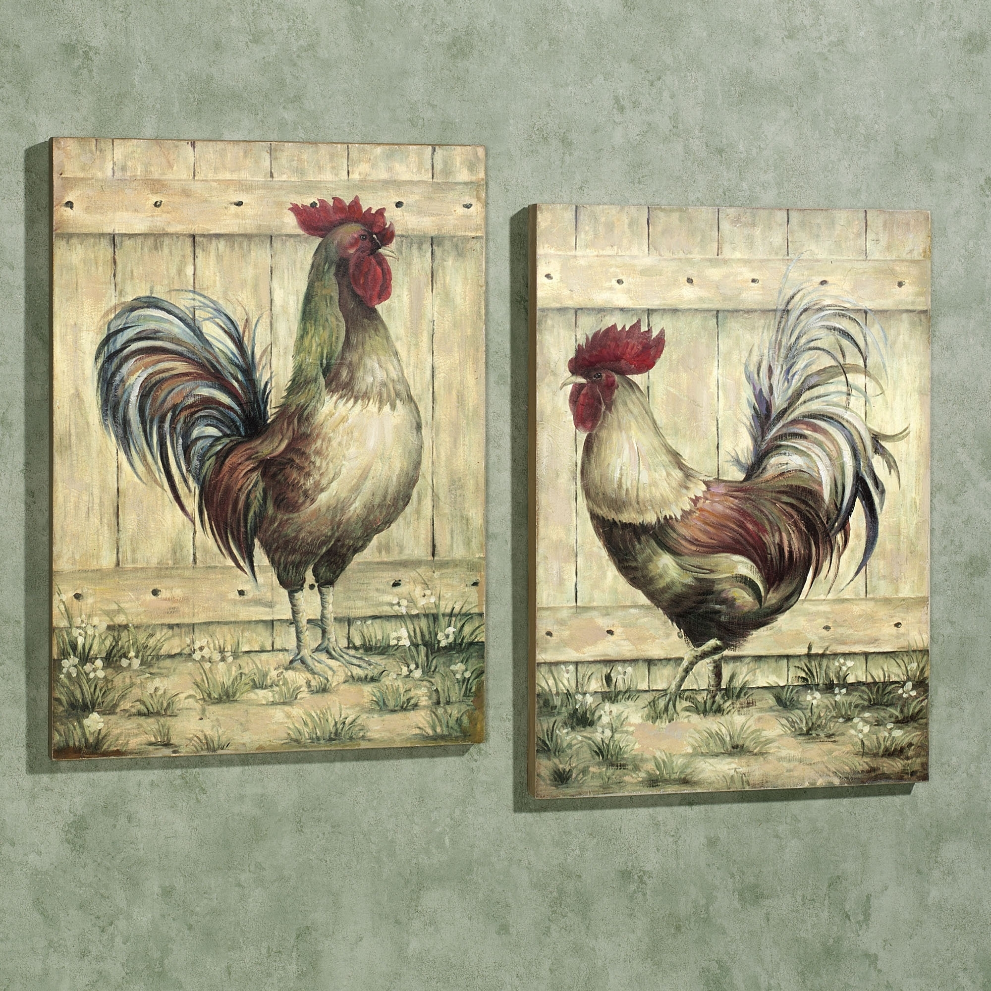 Well Known Metal Rooster Wall Decor For Royale Rooster Wall Art Plaque Set (View 13 of 15)