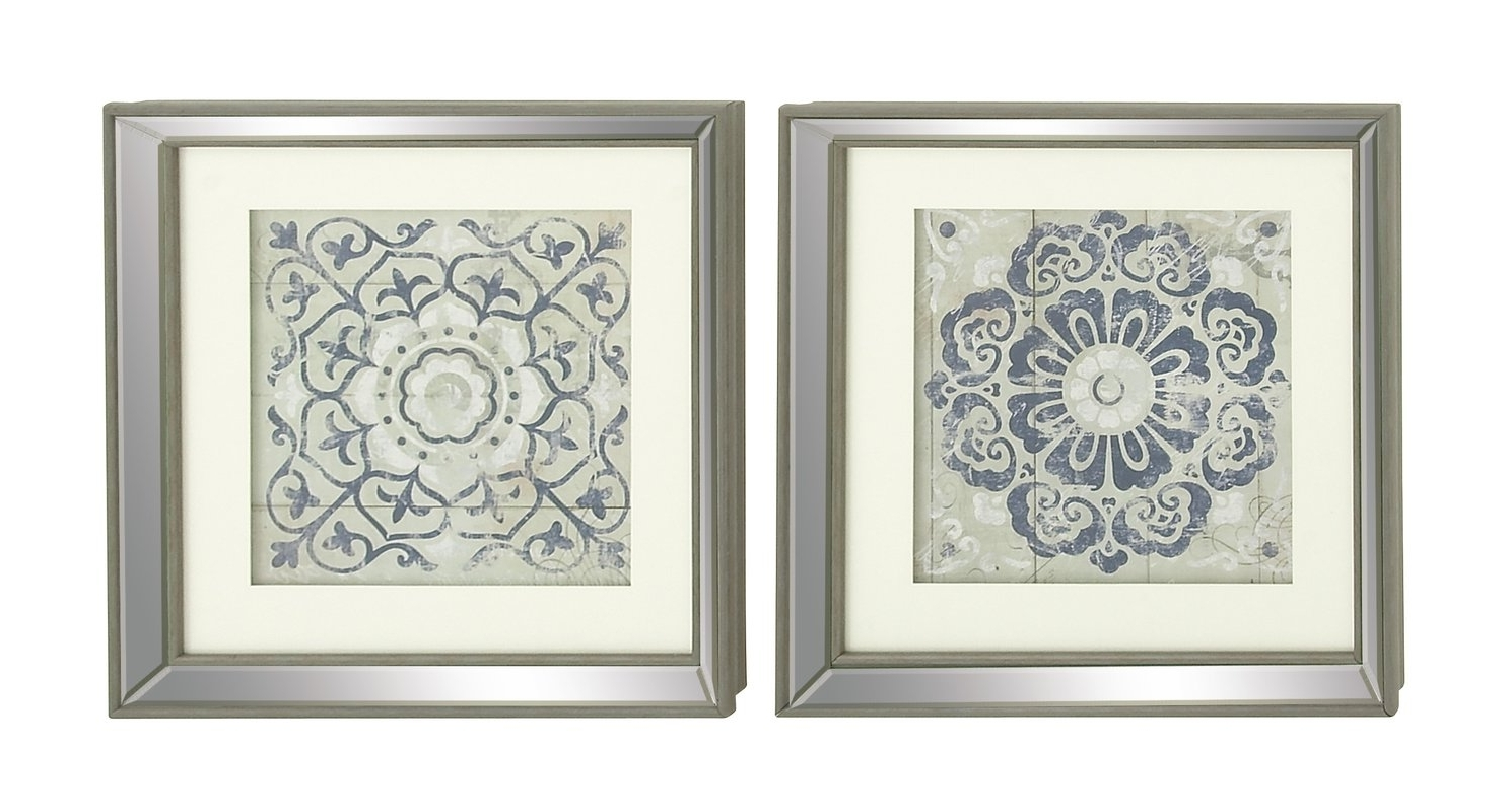 Well Known Mirrored Frame Wall Art For Mistana Polystone Mirror Framed Wall Art Set & Reviews (View 2 of 15)