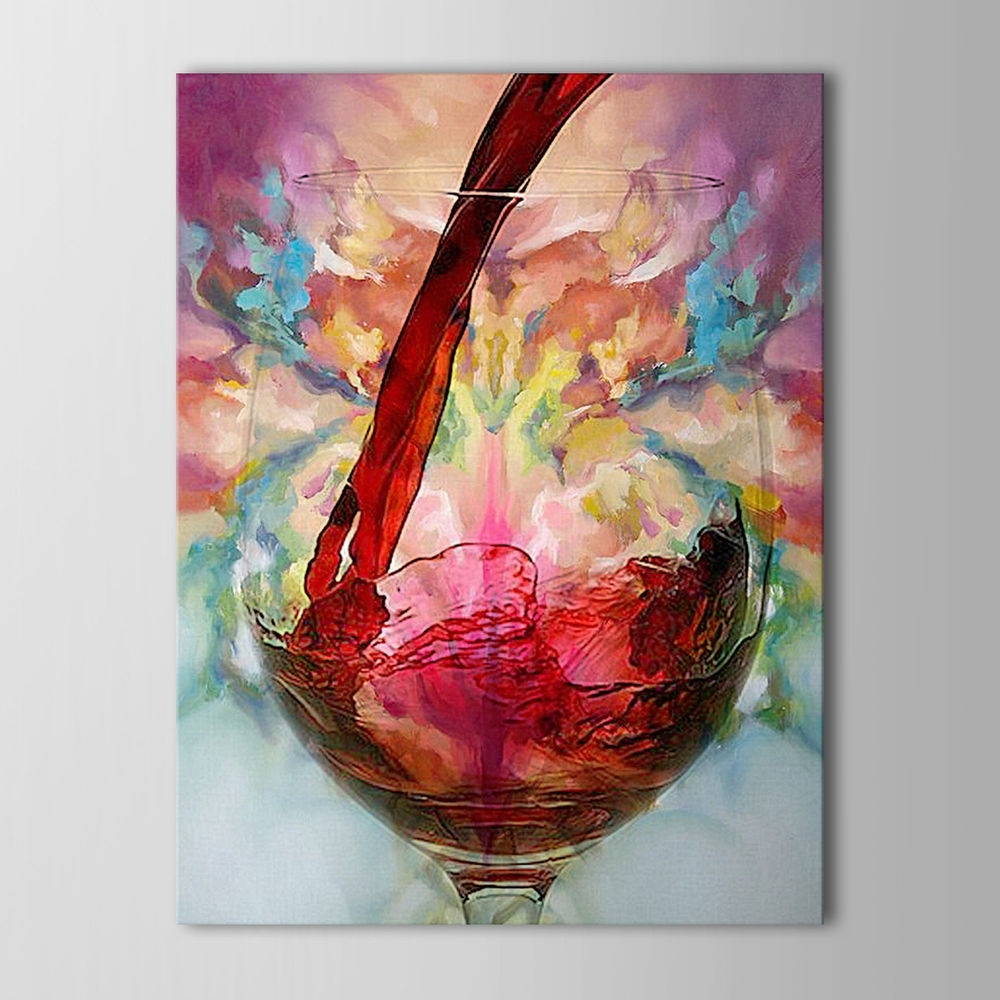 Well Known Modern Abstract Oil Painting Wall Art Throughout Wineglass Large Canvas No Frame (View 12 of 15)