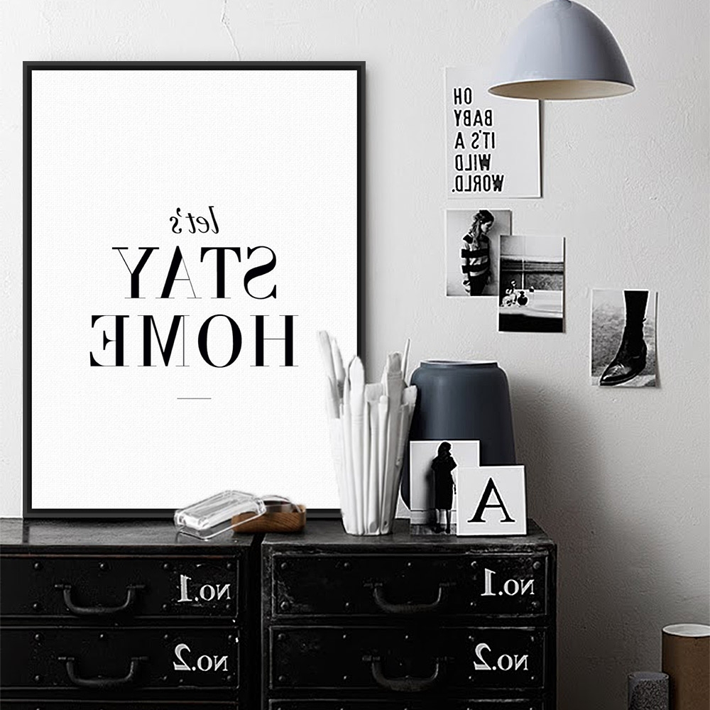 Featured Photo of Typography Canvas Wall Art