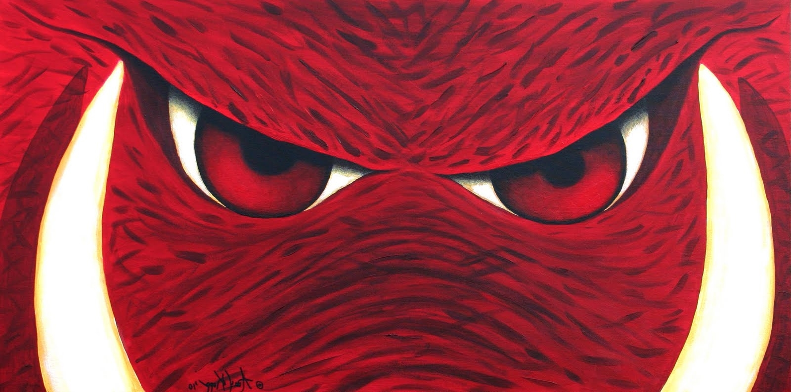 Well Known My Journey Creating: Arkansas Razorbacks Wall Art Pertaining To Razorback Wall Art (View 15 of 15)