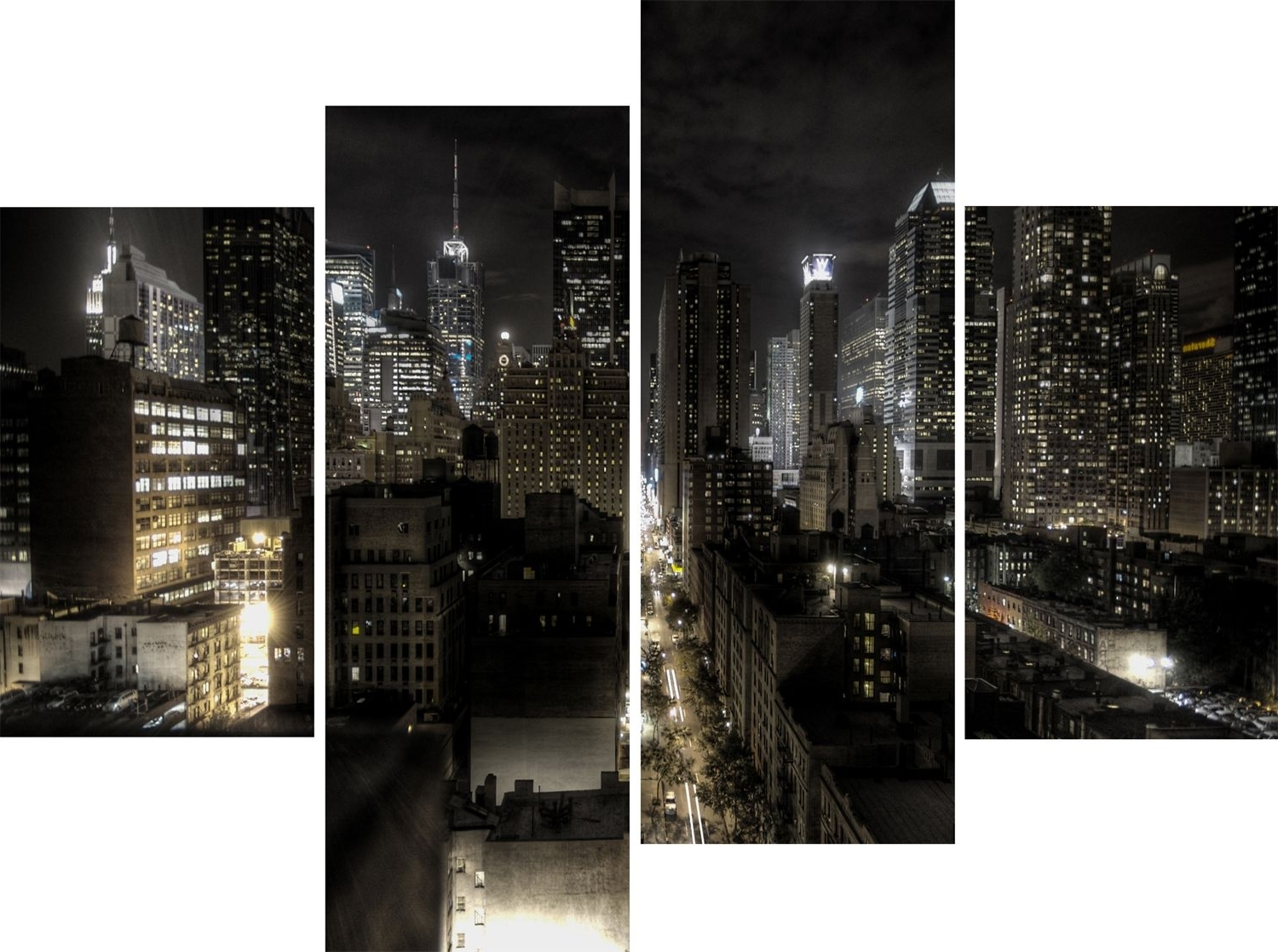 Well Known New York City Wall Art Within Wall Art Designs: New York City Wall Art Large 4 Panel New York (View 12 of 15)