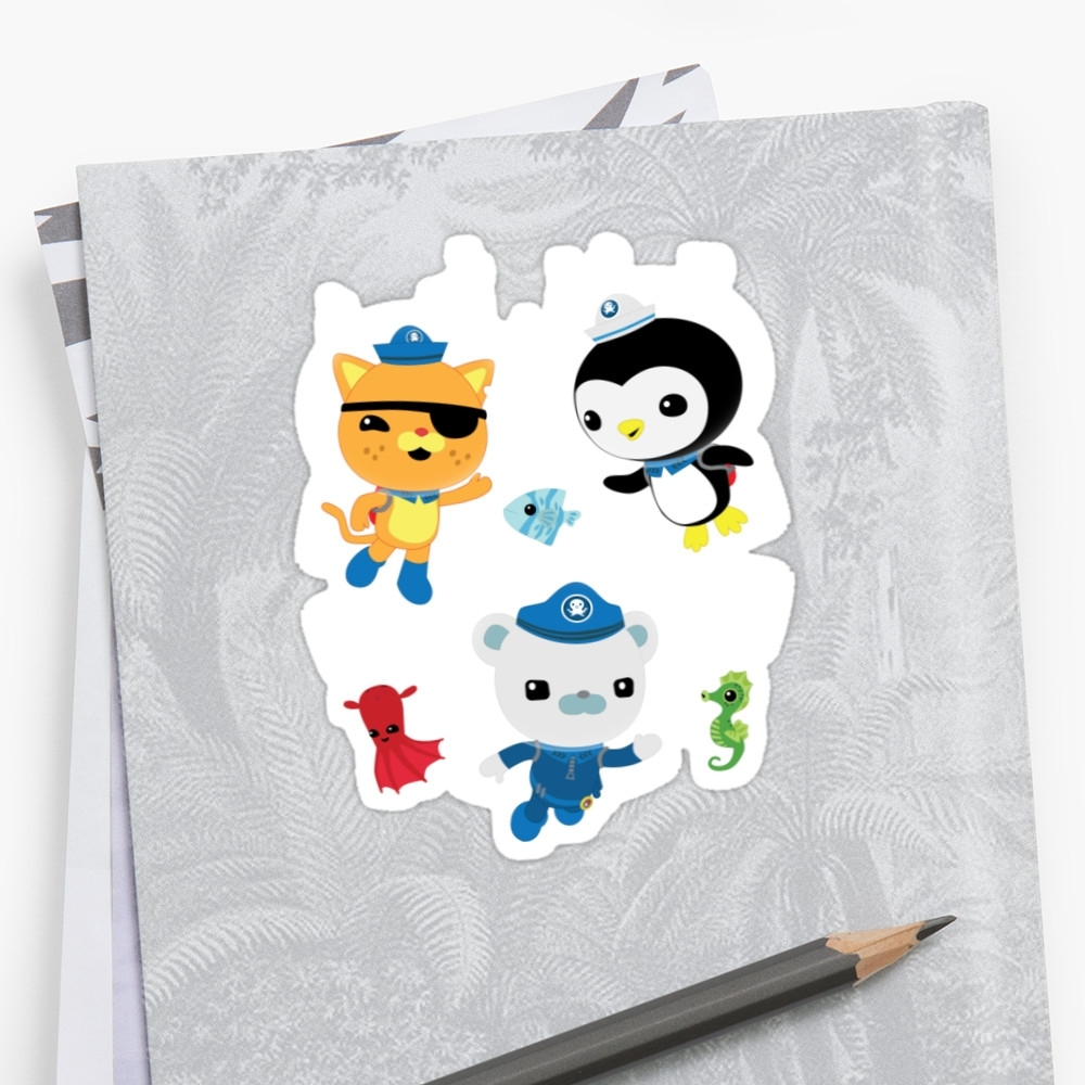 "Well Known Octonauts Wall Art Intended For Octonauts, To Your Stations!"" Stickersfairfaxx (View 14 of 15)"