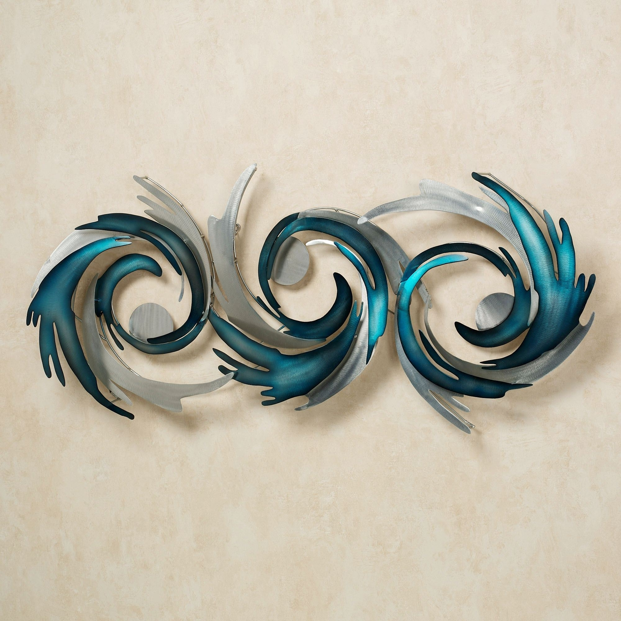 Well Known Outdoor Wall Sculpture Art Throughout Wall Decor For Dining Area, Blue Metal Wall Sculpture Art (View 14 of 15)