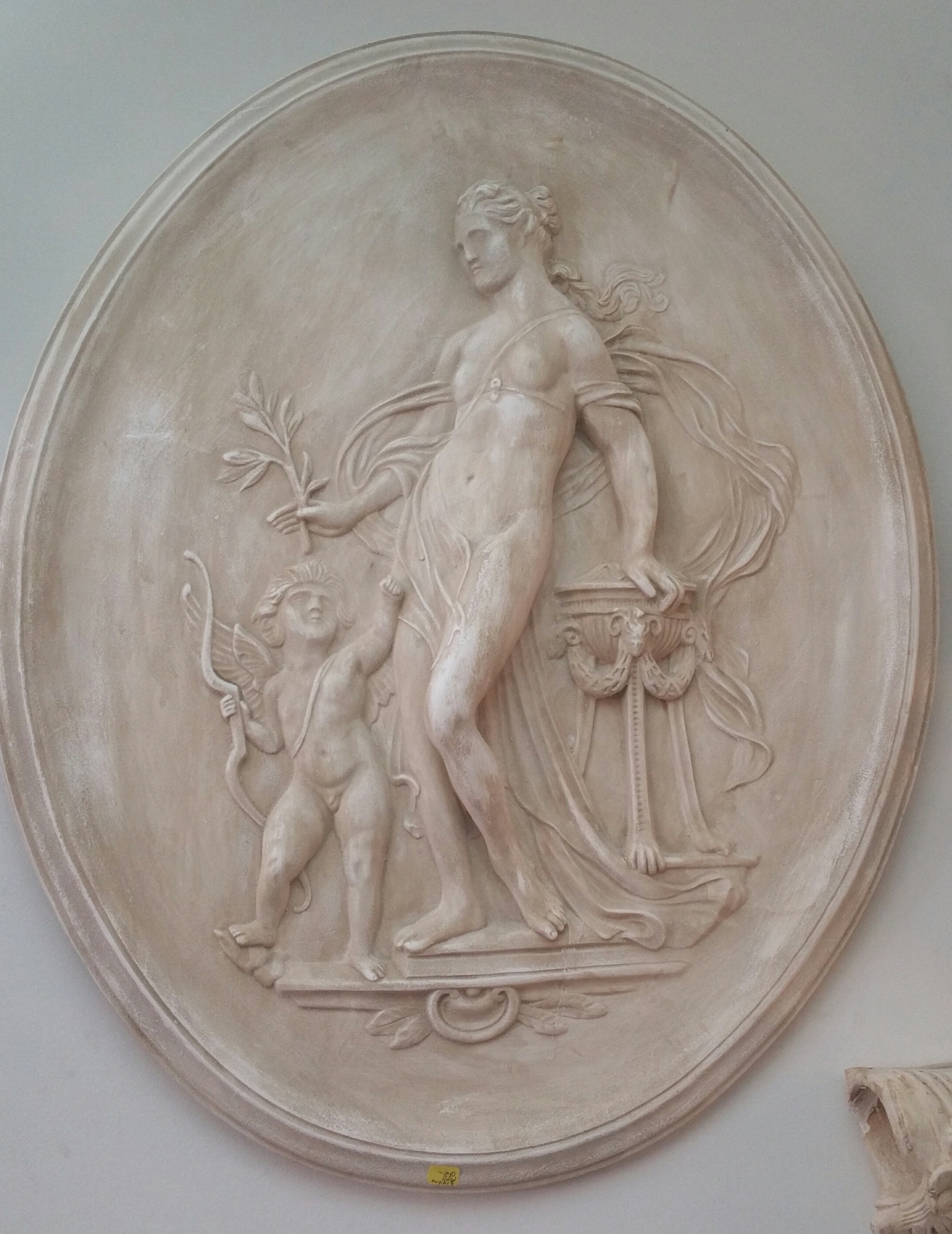 Well Known Oval Ceramic Greek Goddess With Cherub Wall Art – Le Unique Boutique Intended For Greek Wall Art (View 12 of 15)