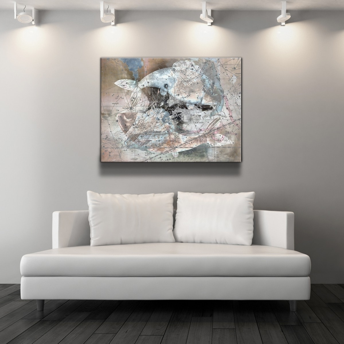 Well Known Oversized Canvas Wall Art With Regard To Ready2hangart 'zodiac Study: Pisces' Oversized Canvas Wall Art (View 9 of 15)