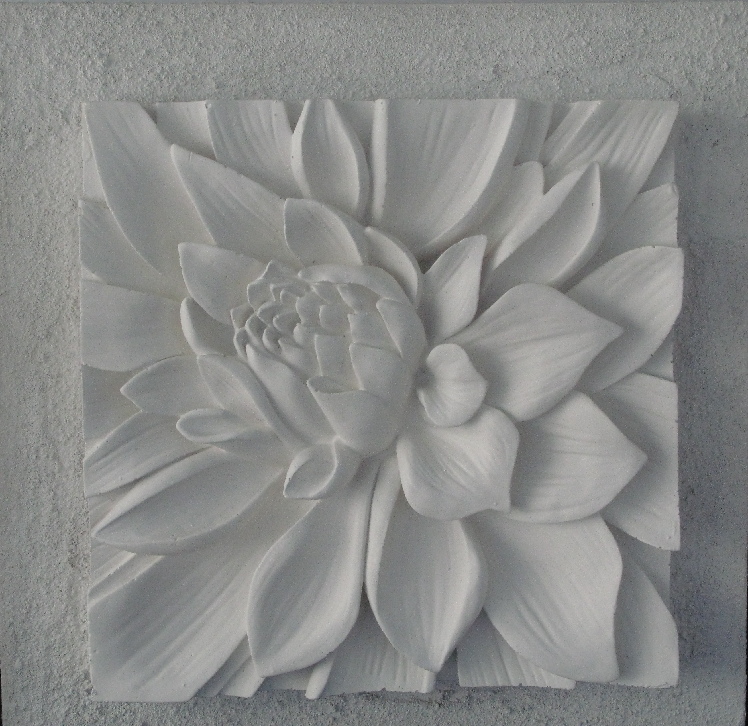Well Known Plaster On Canvas 3D Art With Textured Background (View 15 of 15)