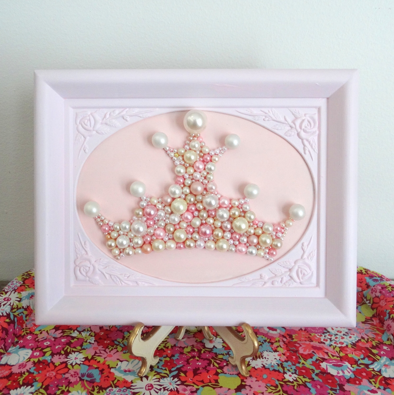 Well Known Princess Crown Wall Art. Pearl Mosaic (View 2 of 15)